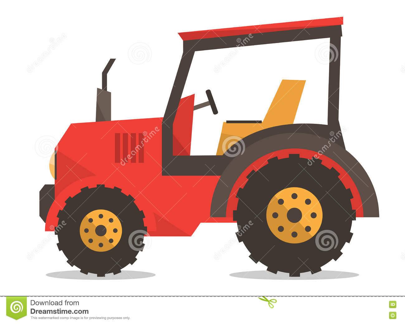 Agricultural Machinery Design : Tractor vector illustration stock