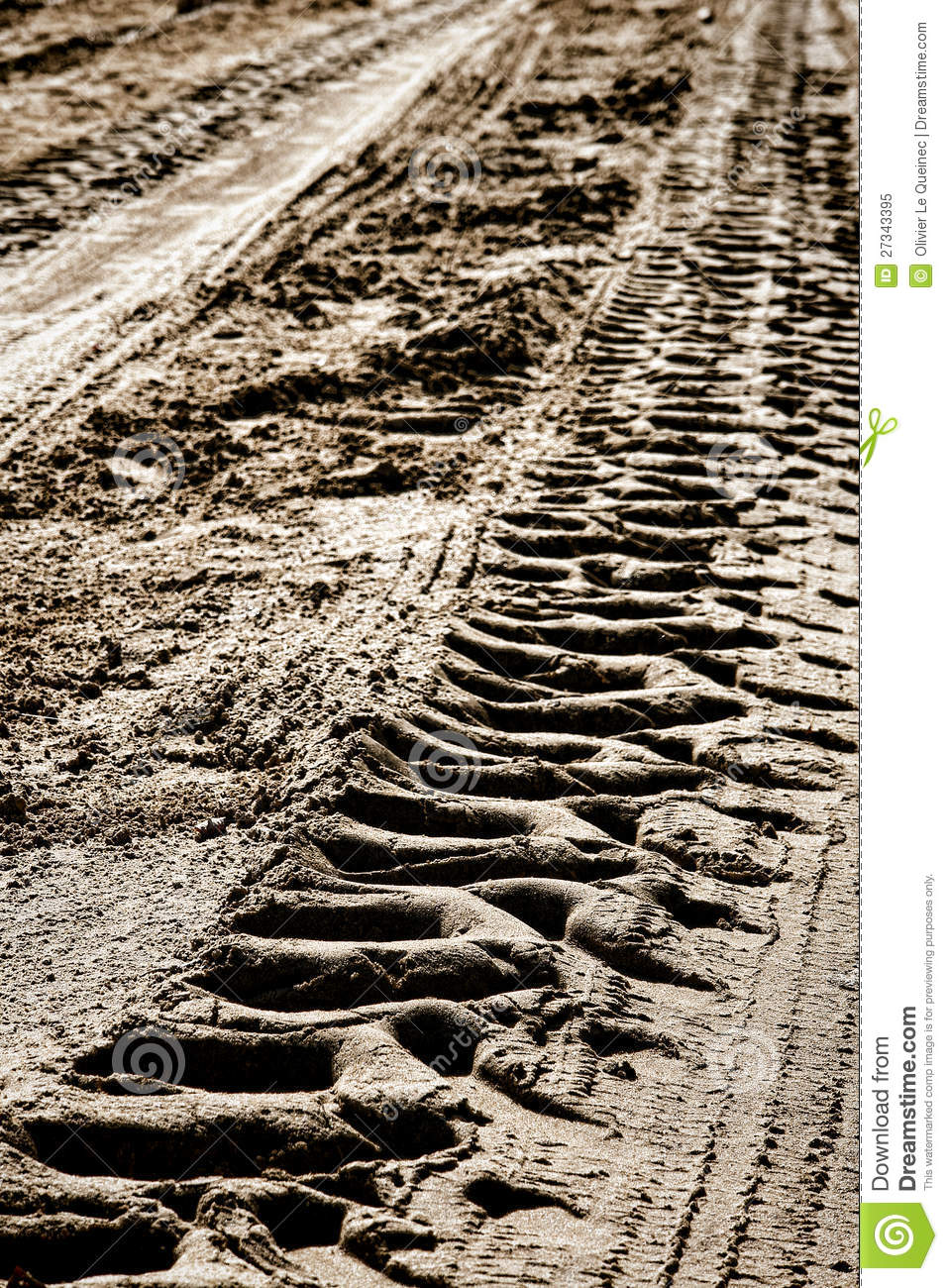 Tractor wheel tire tracks in dry mud on dirt road royalty free stock photo image 27343395 - Tire tread wallpaper ...