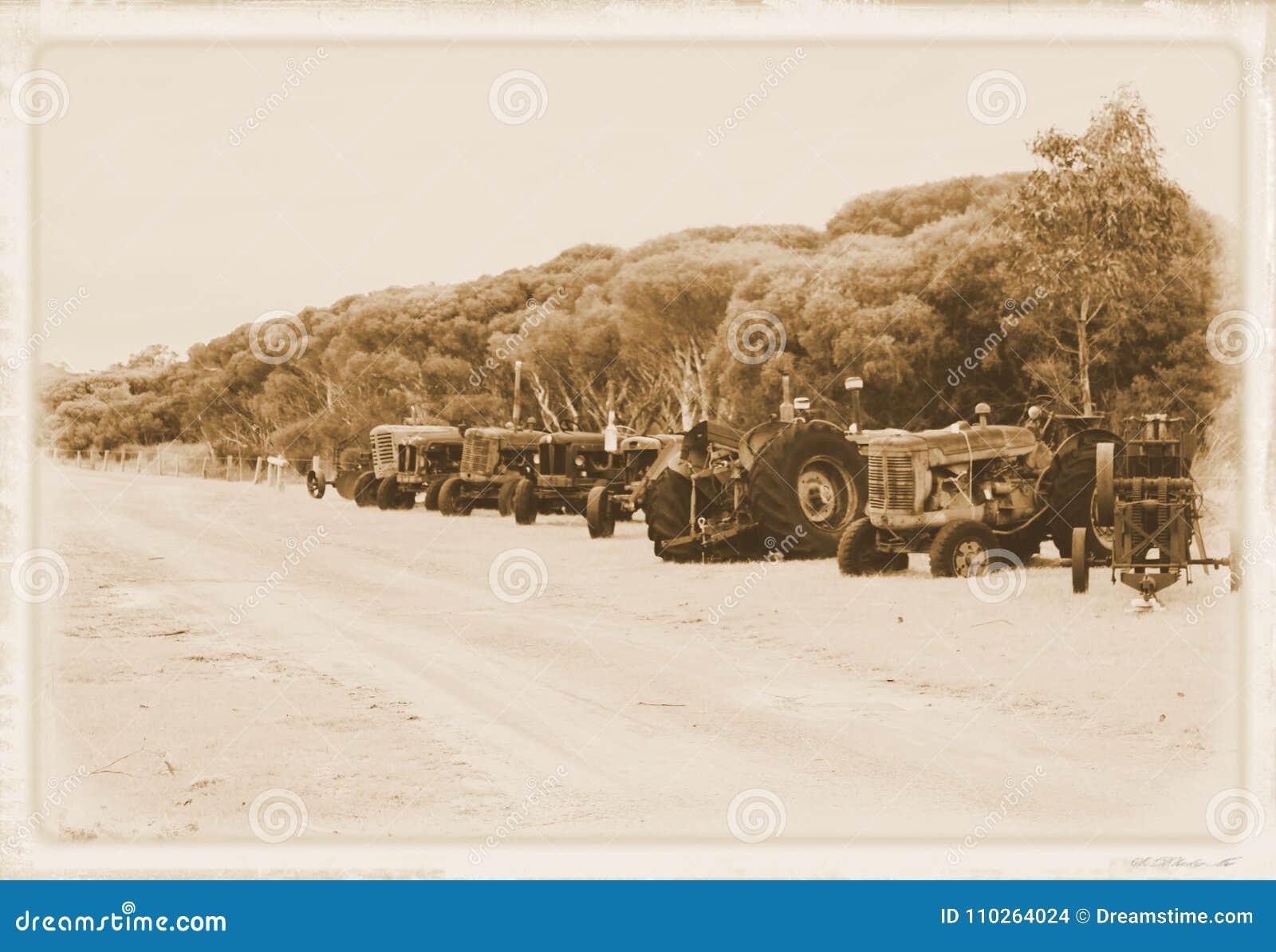 Tractoren, oude tractoren, machinary landbouwbedrijf,