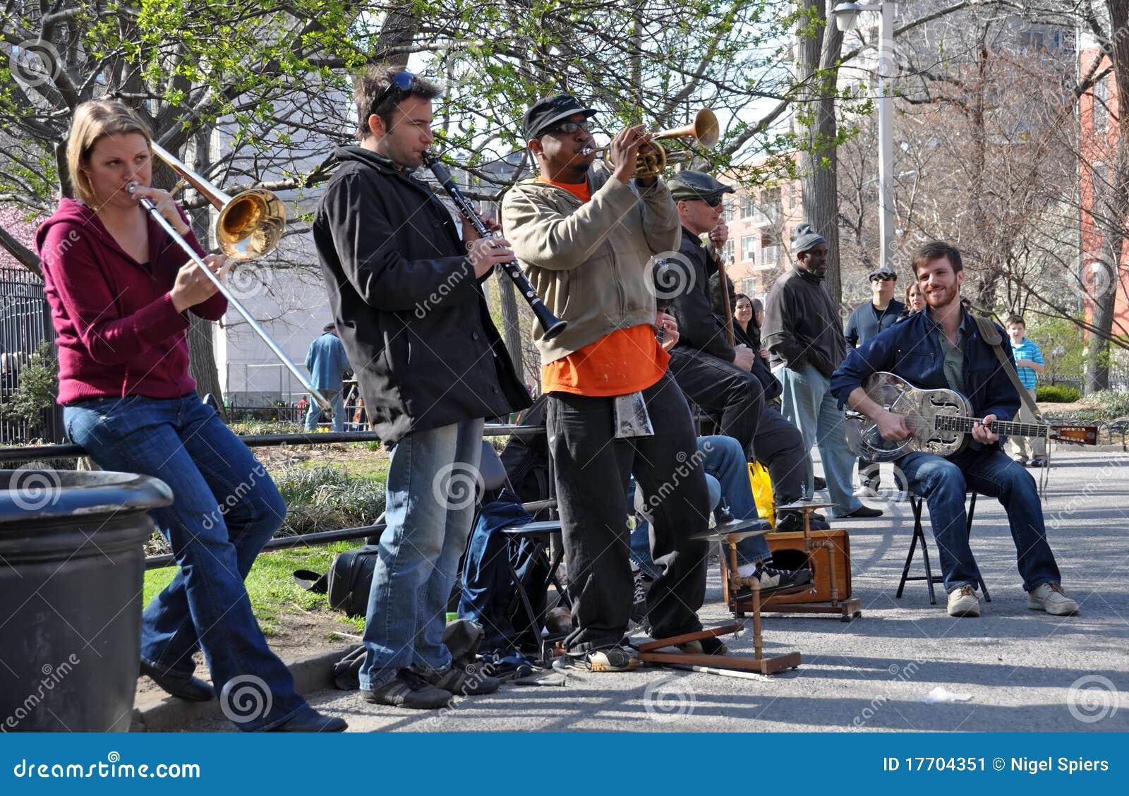 Trad. Jazz Band, Greenich Village New York