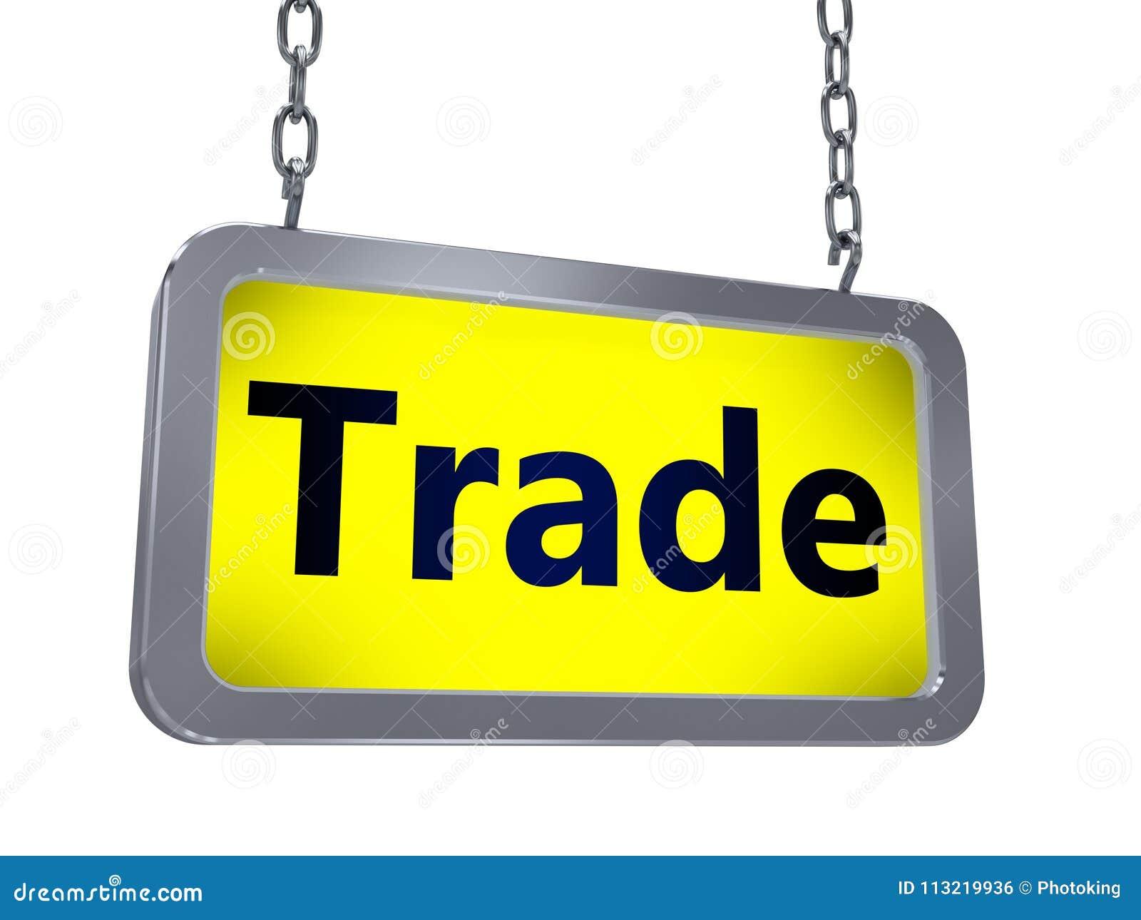 Trade on billboard