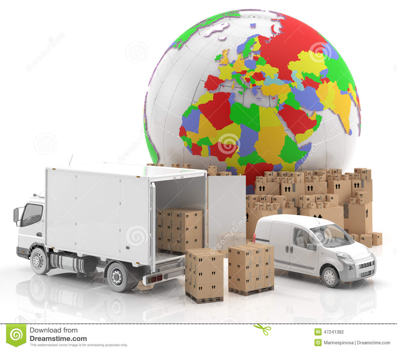 Trade In Europe - Made In Europe - Transportation Stock Photo ...