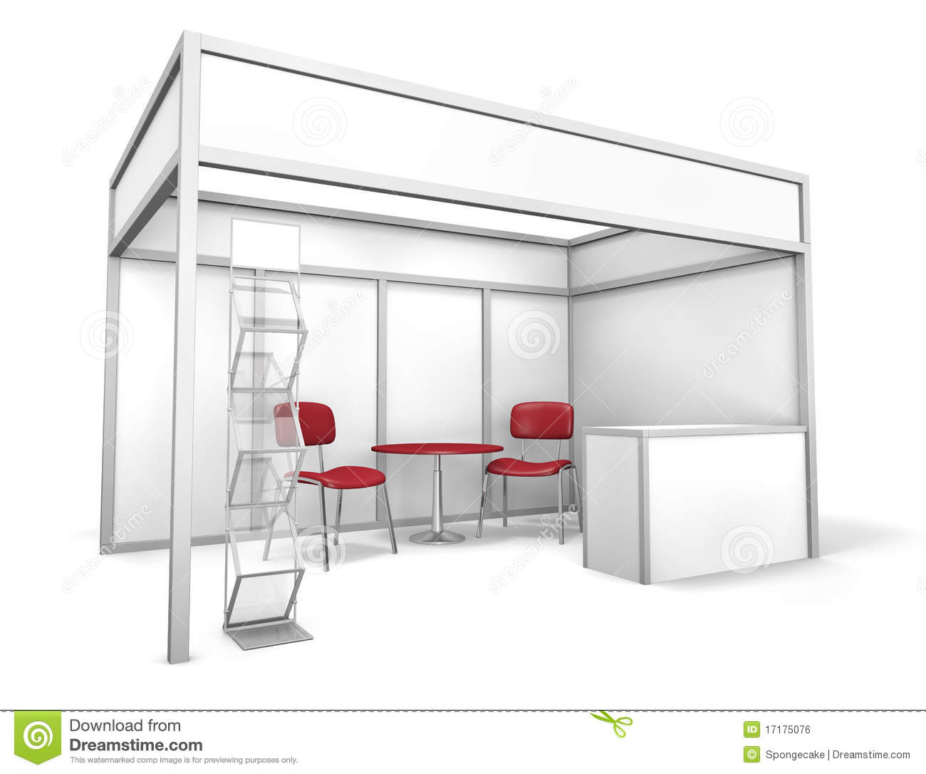 Exhibition Stand Drawing : Trade exhibition stand stock illustration of