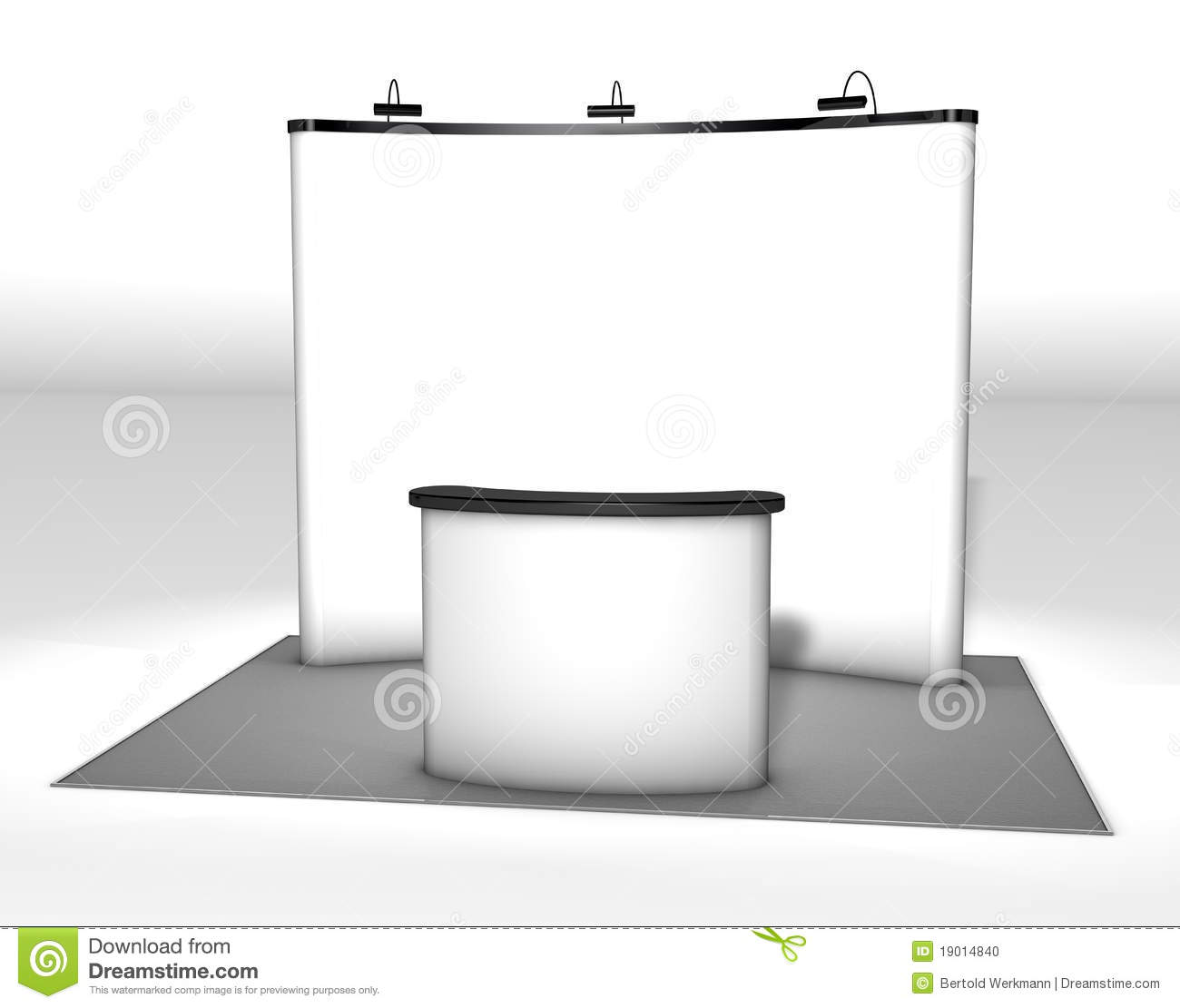 Trade exhibition stand stock illustration illustration of for Organiser un stand