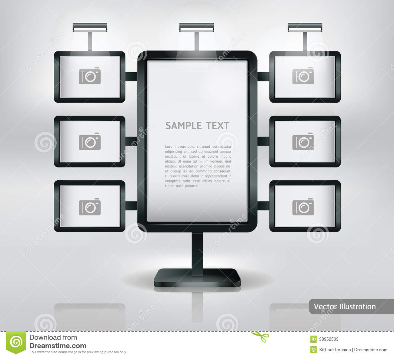 Trade Exhibition Stand Vector : Trade exhibition stand display stock vector image