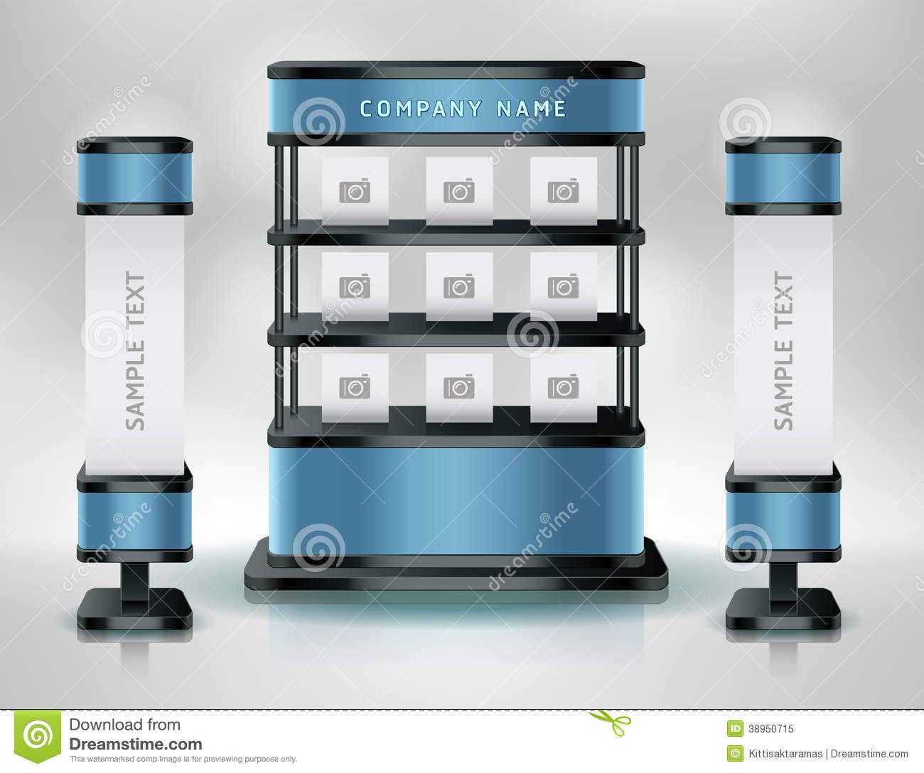 Exhibition Stand Vector Free Download : Trade exhibition stand display stock vector image