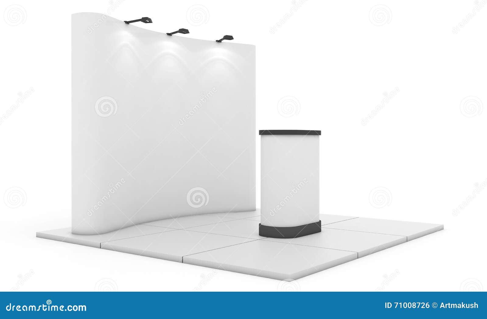 Exhibition Stand Design Illustrator : Trade exhibition stand round d