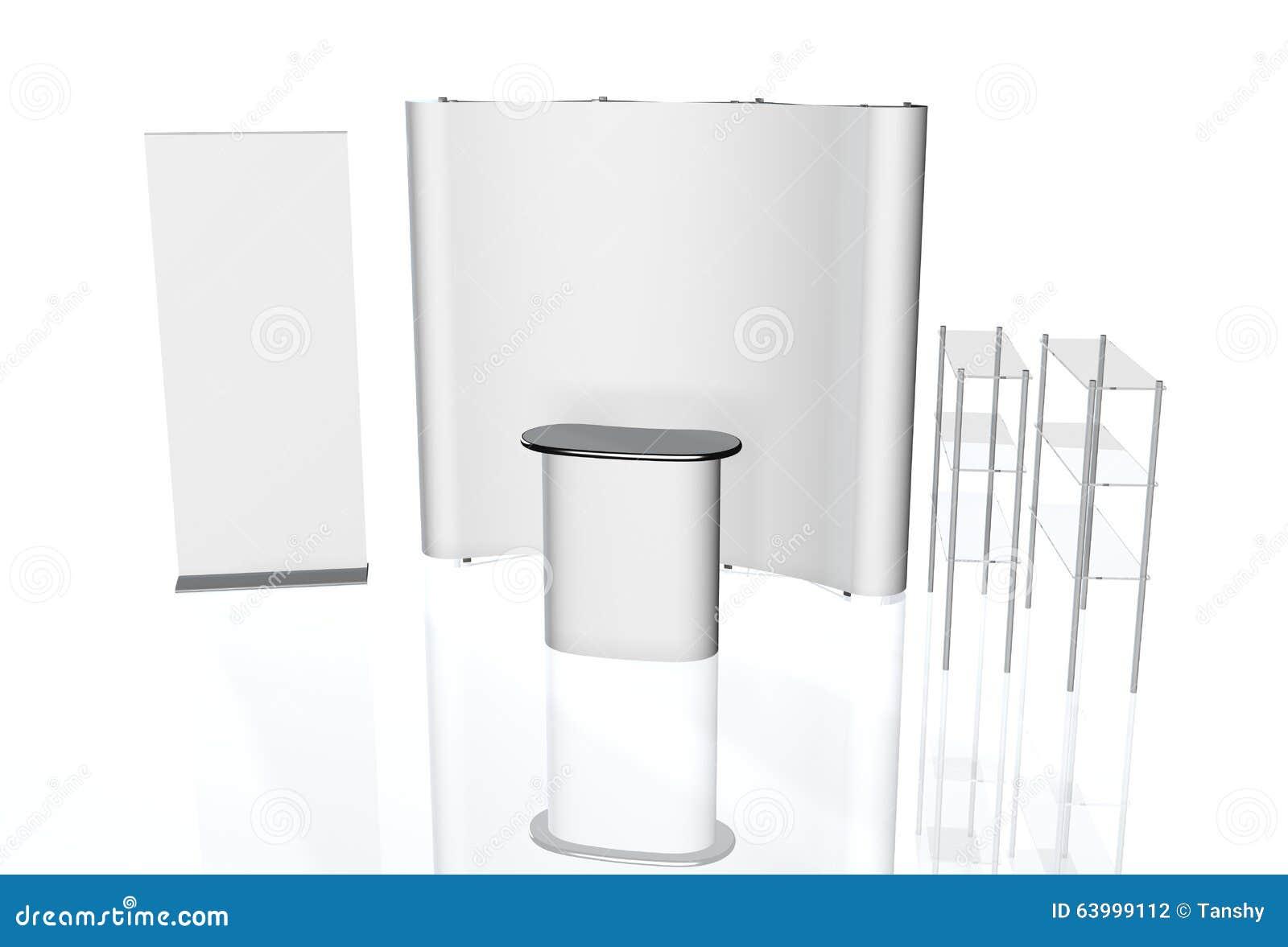 Exhibition Stand Round : Trade exhibition stand round d rendering