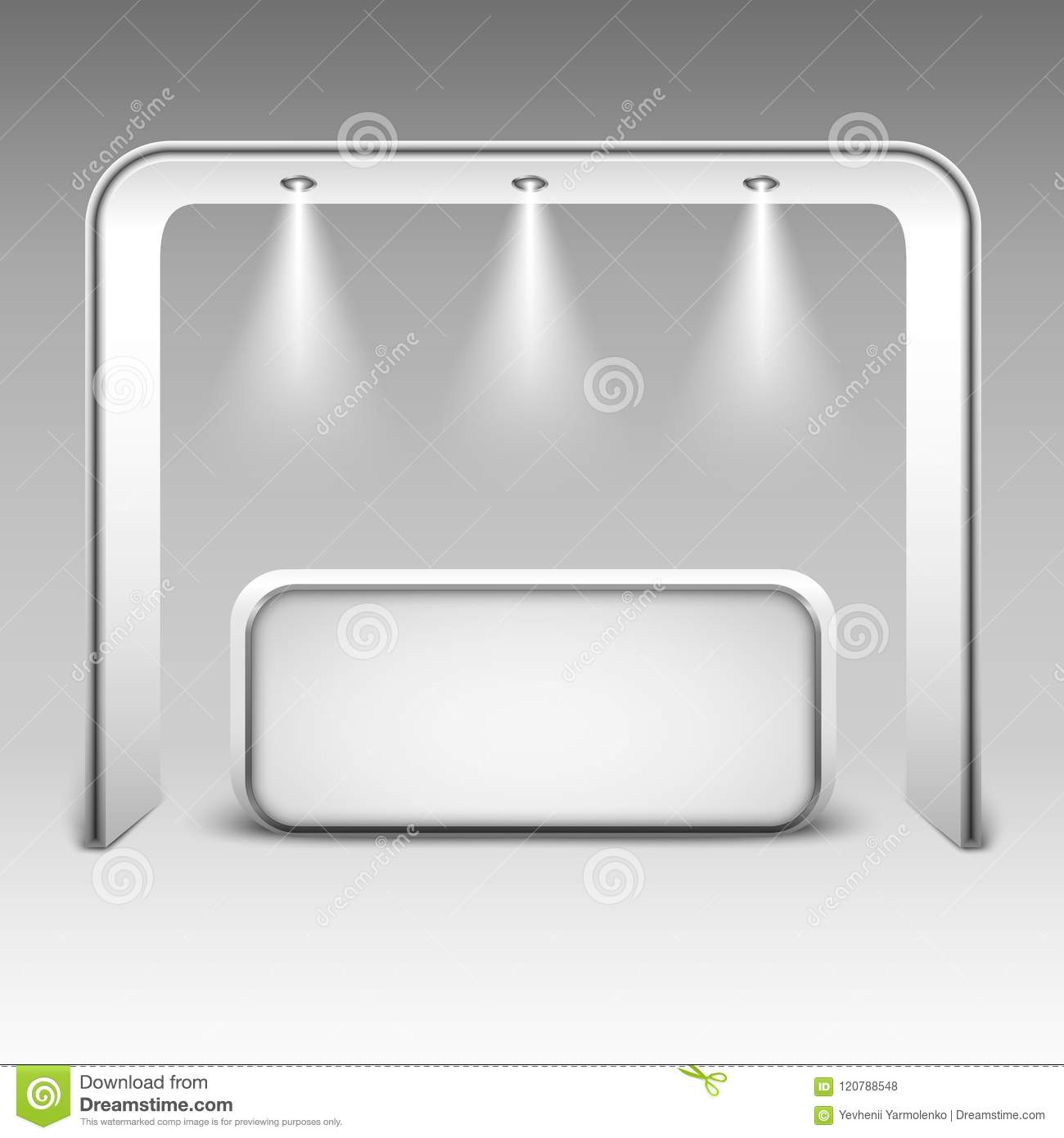 Exhibition Booth Mockup Free Download : Trade exhibition stand mock up isolated on white background white