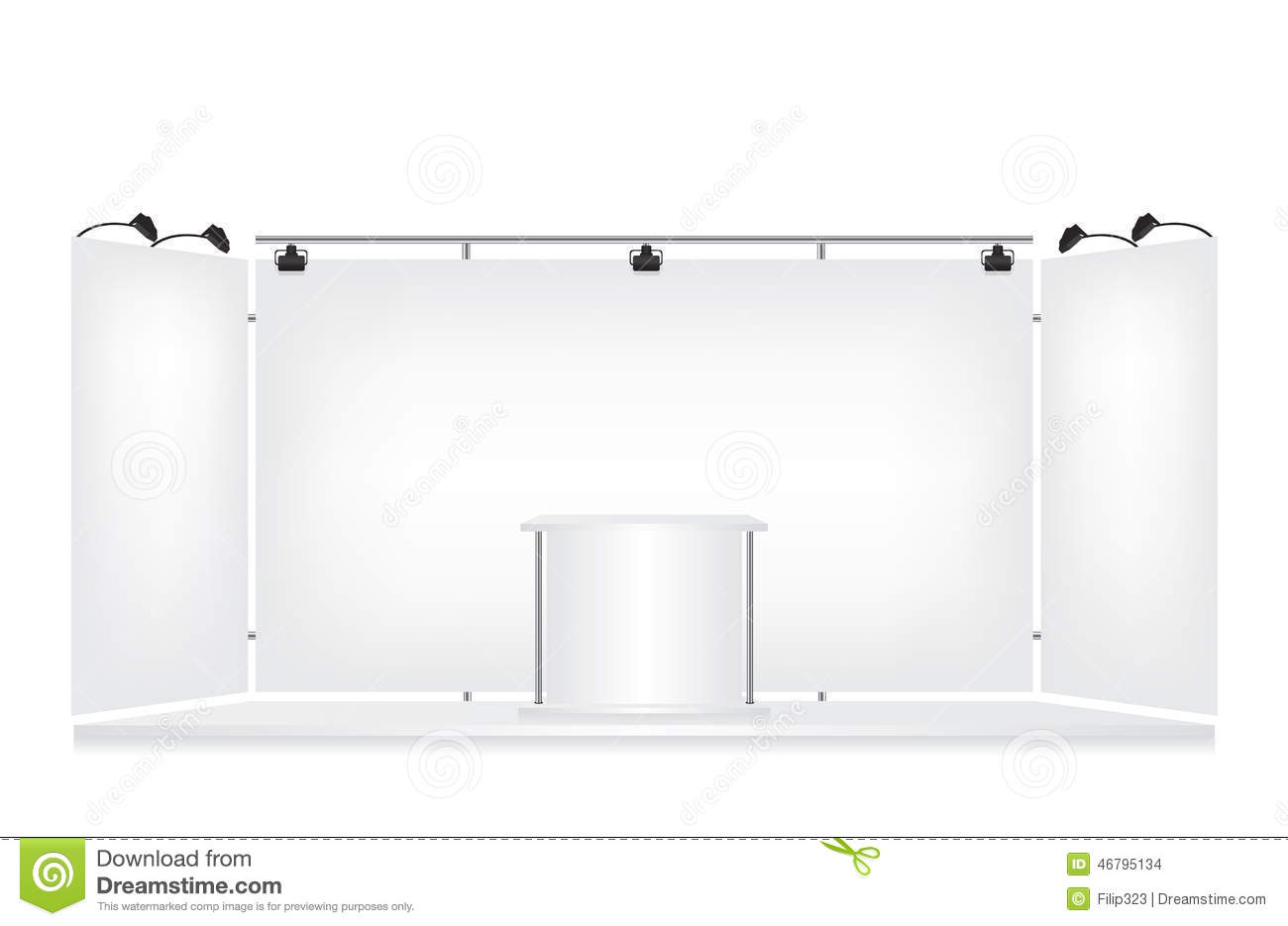 Exhibition Stand White : Trade exhibition stand stock photo image of npackaging
