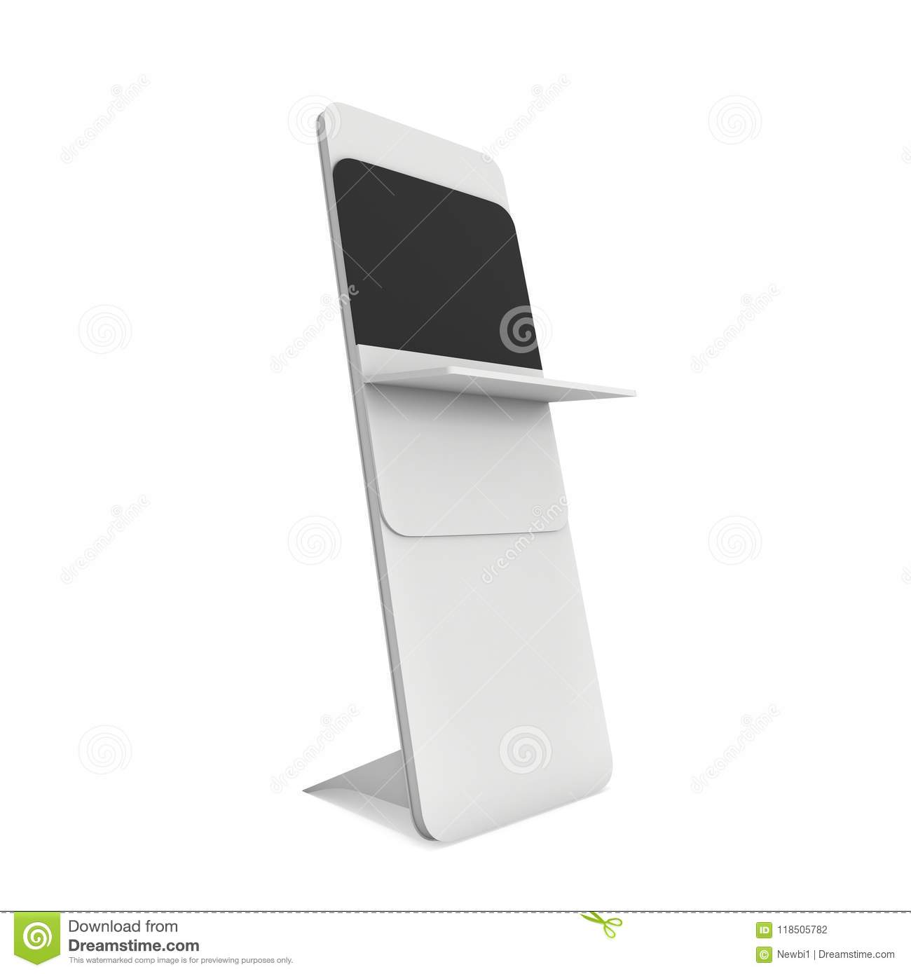 Expo Stands Kioska : Trade show booth lcd screen stand. stock illustration illustration