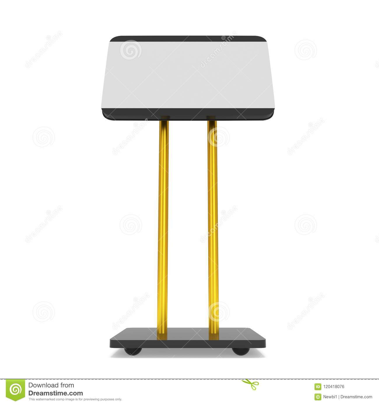 Trade Show Booth Lcd Screen Stand Stock Illustration Illustration Of Render Exhibitor 120418076