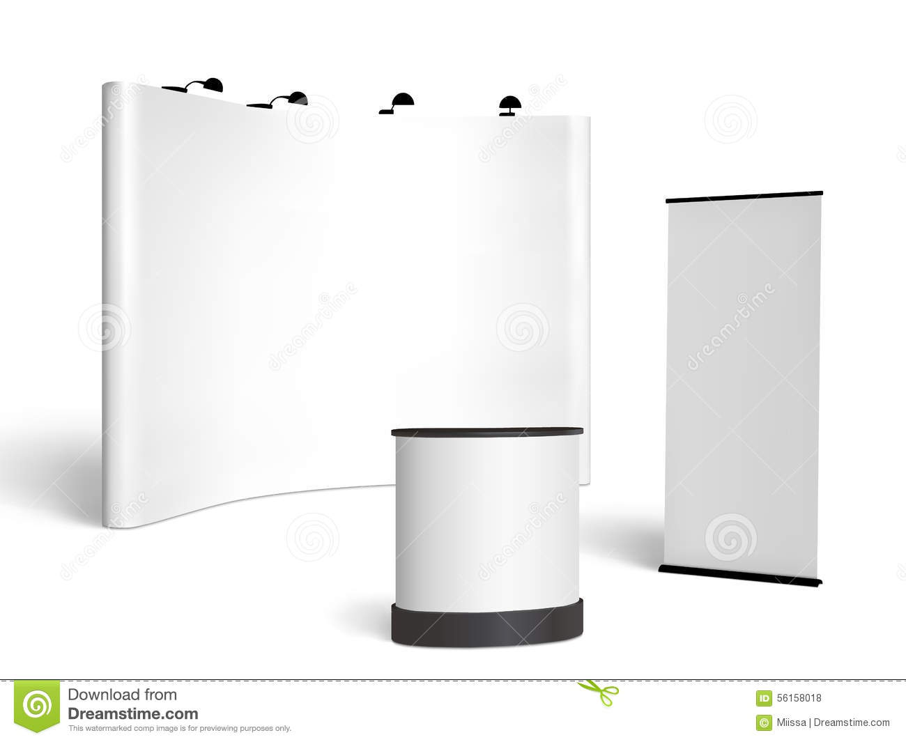 Exhibition Booth Vector Free Download : Trade show booth mock up vector on white stock