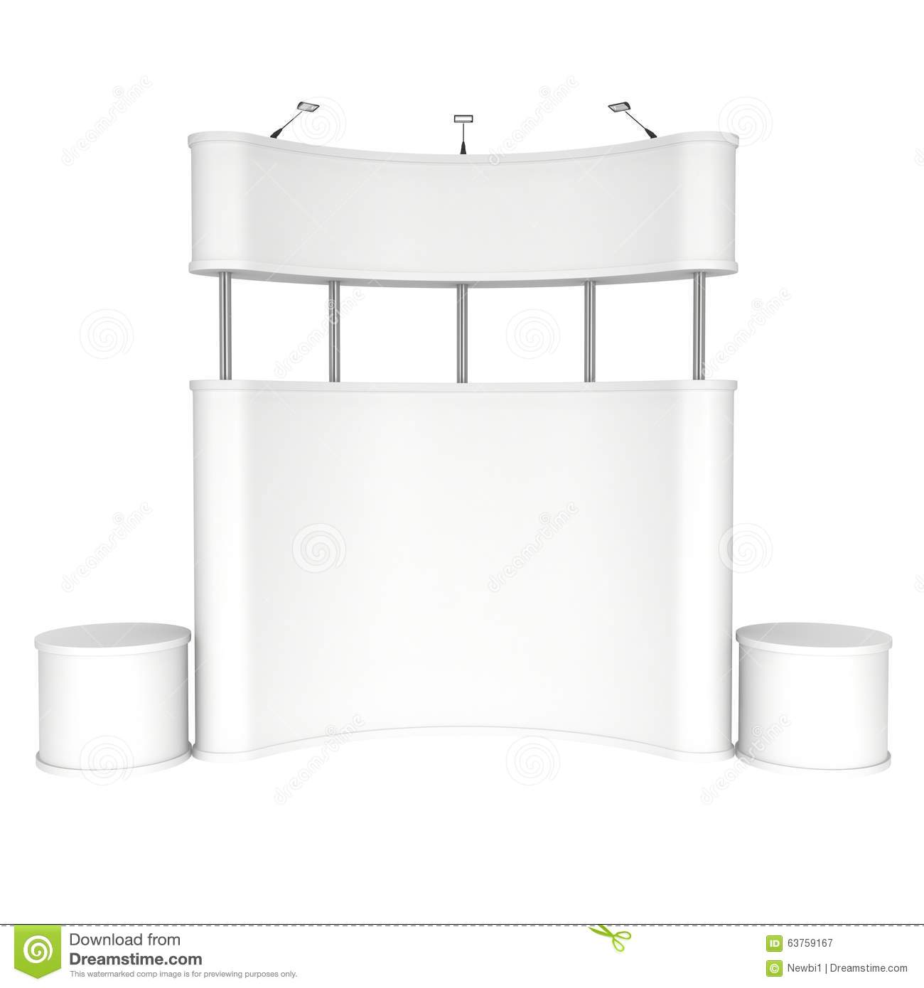 Trade Show Booth White And Blank Stock Illustration