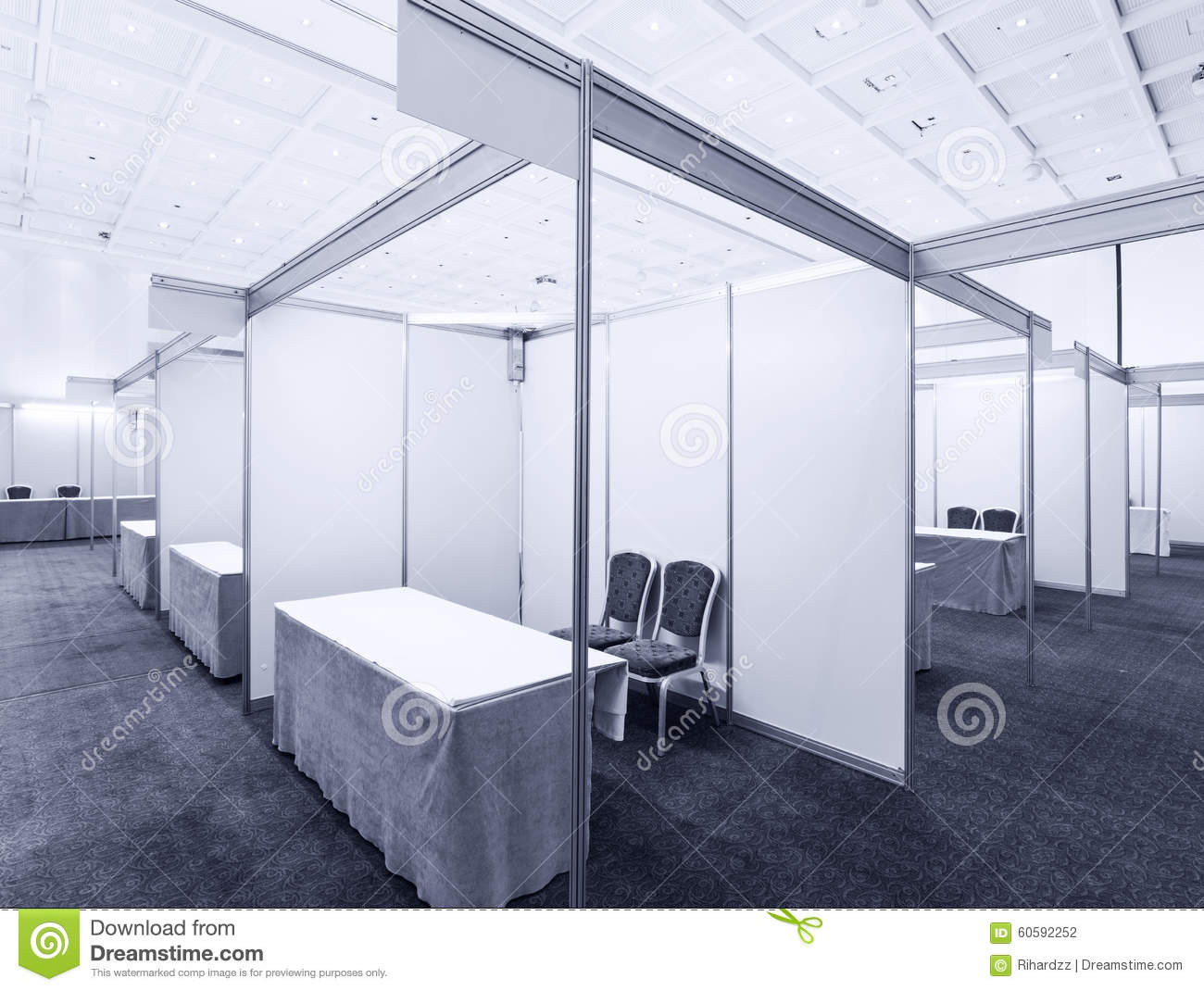 Exhibition Booth Table : Trade show interior royalty free stock image