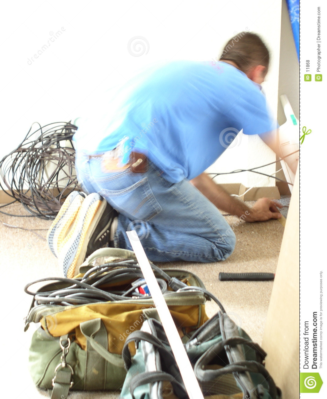 Tradesman working