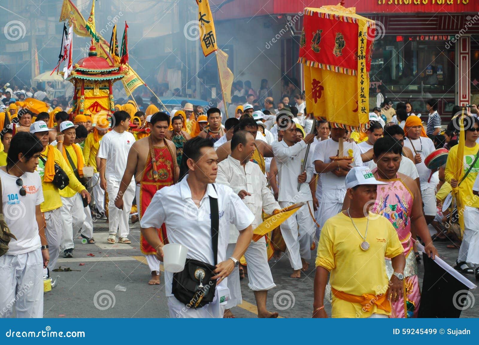 Download Tradición Provincial Del Festival Vegetariano De Phuket Imagen de archivo editorial - Imagen de fanático, boca: 59245499