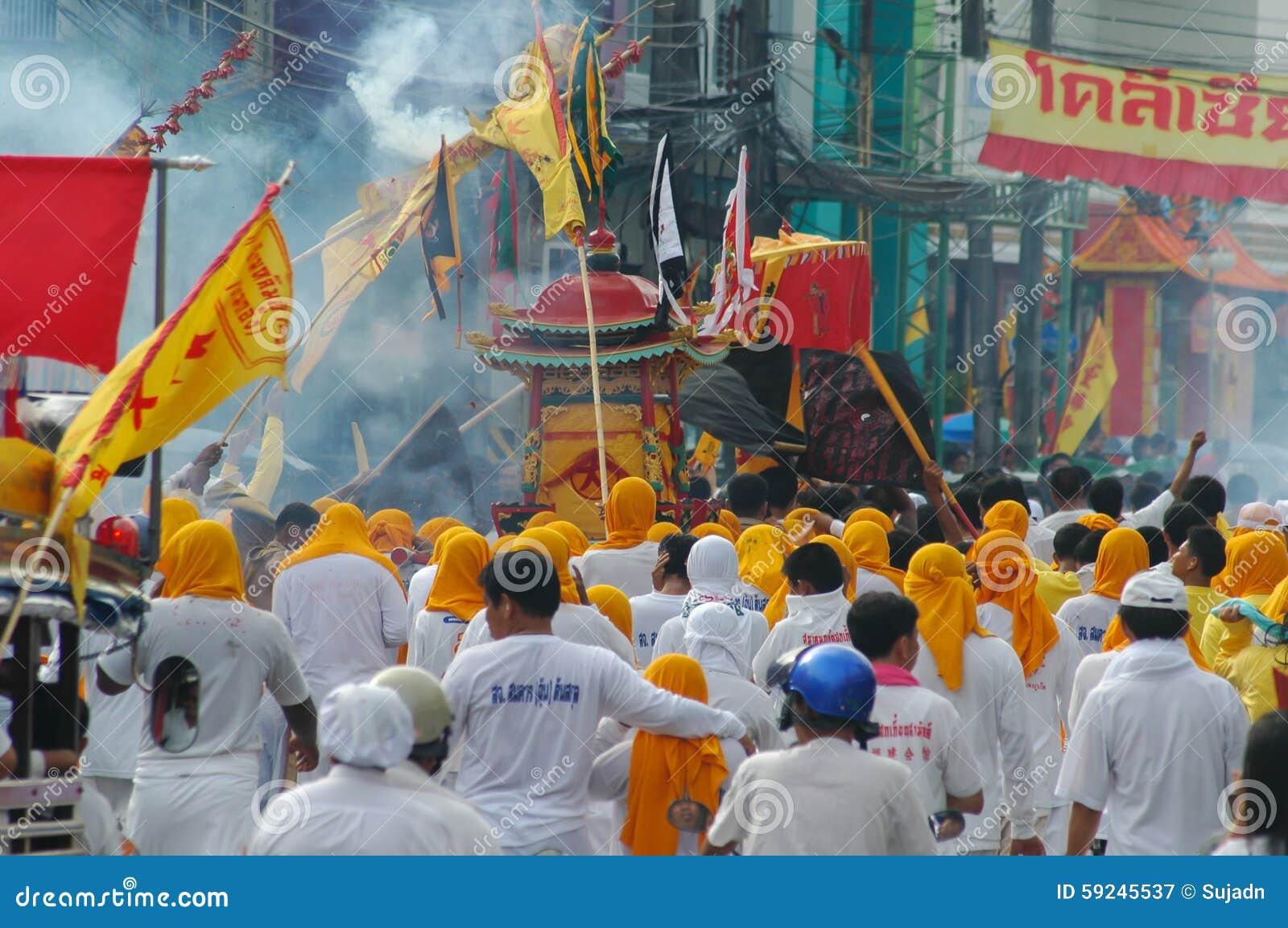 Download Tradición Provincial Del Festival Vegetariano De Phuket Fotografía editorial - Imagen de devoto, festival: 59245537