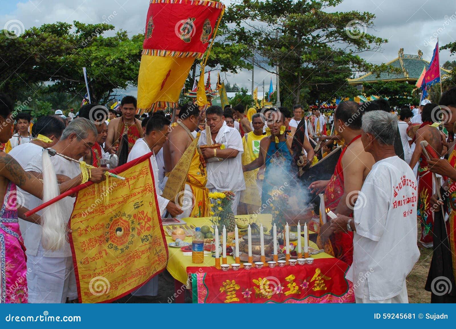 Download Tradición Provincial Del Festival Vegetariano De Phuket Foto editorial - Imagen de media, festival: 59245681