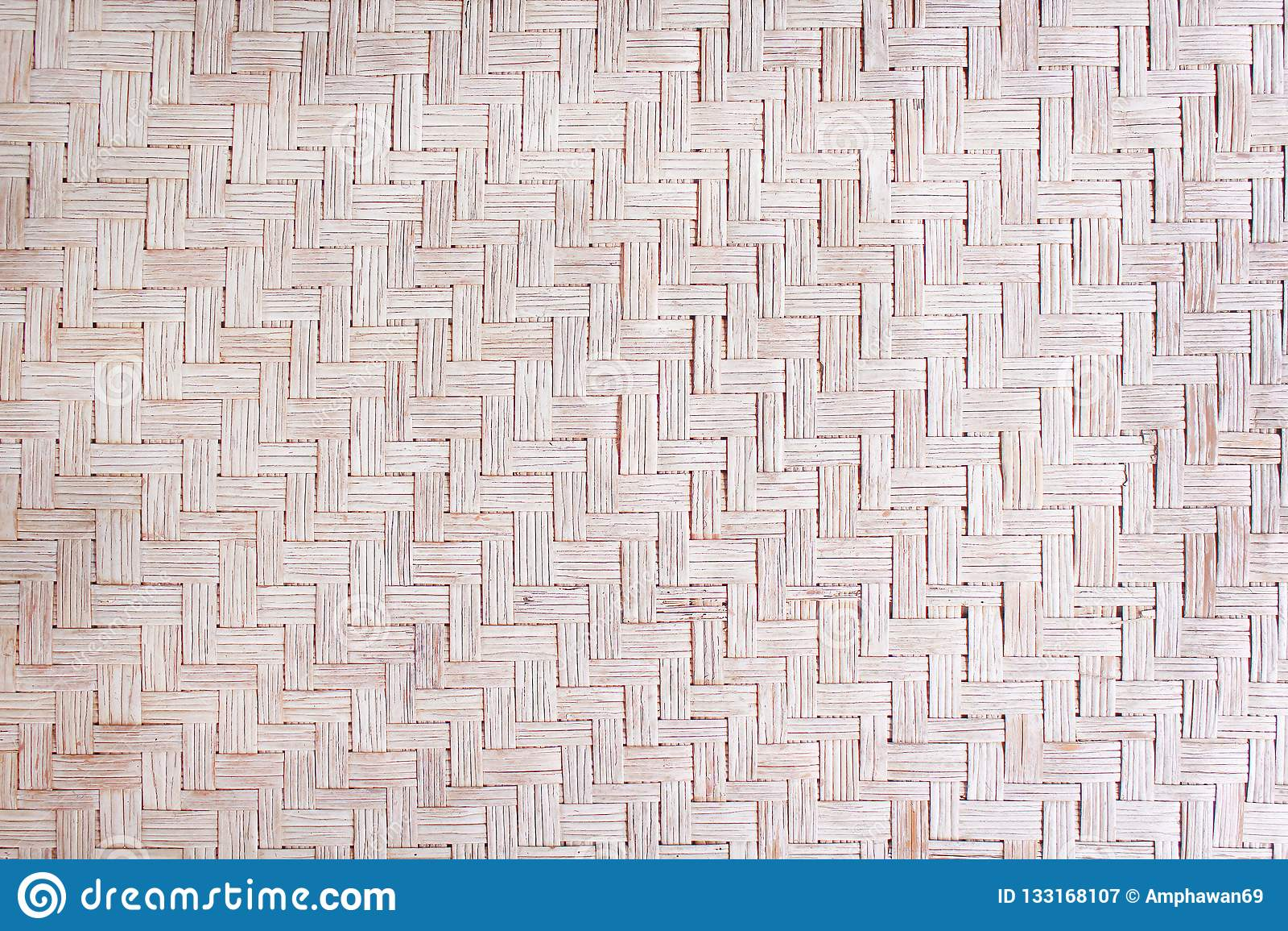 Tradicional handcraft a textura tecida de lingüeta secada da esteira, testes padrões da natureza no fundo