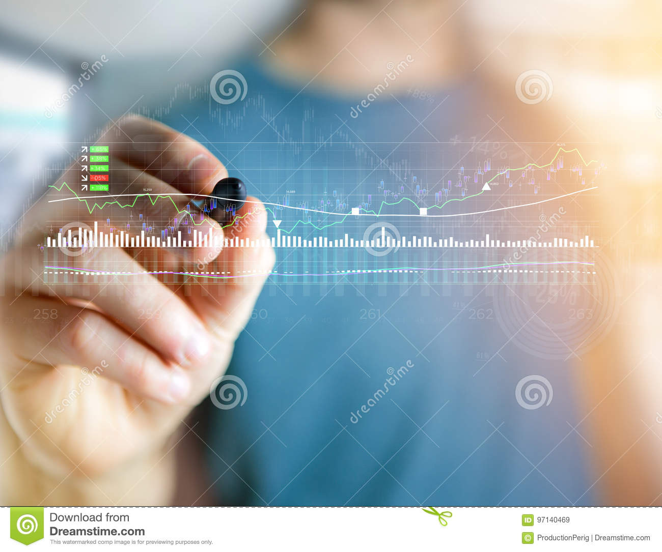 Trading Forex Data Information Displayed On A Stock ...