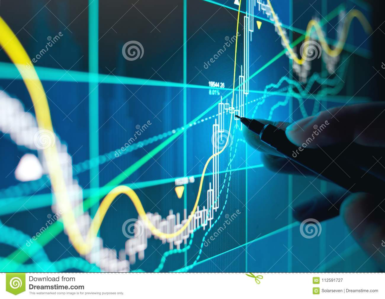 trading online stocks and shares stock image image of graph bonds