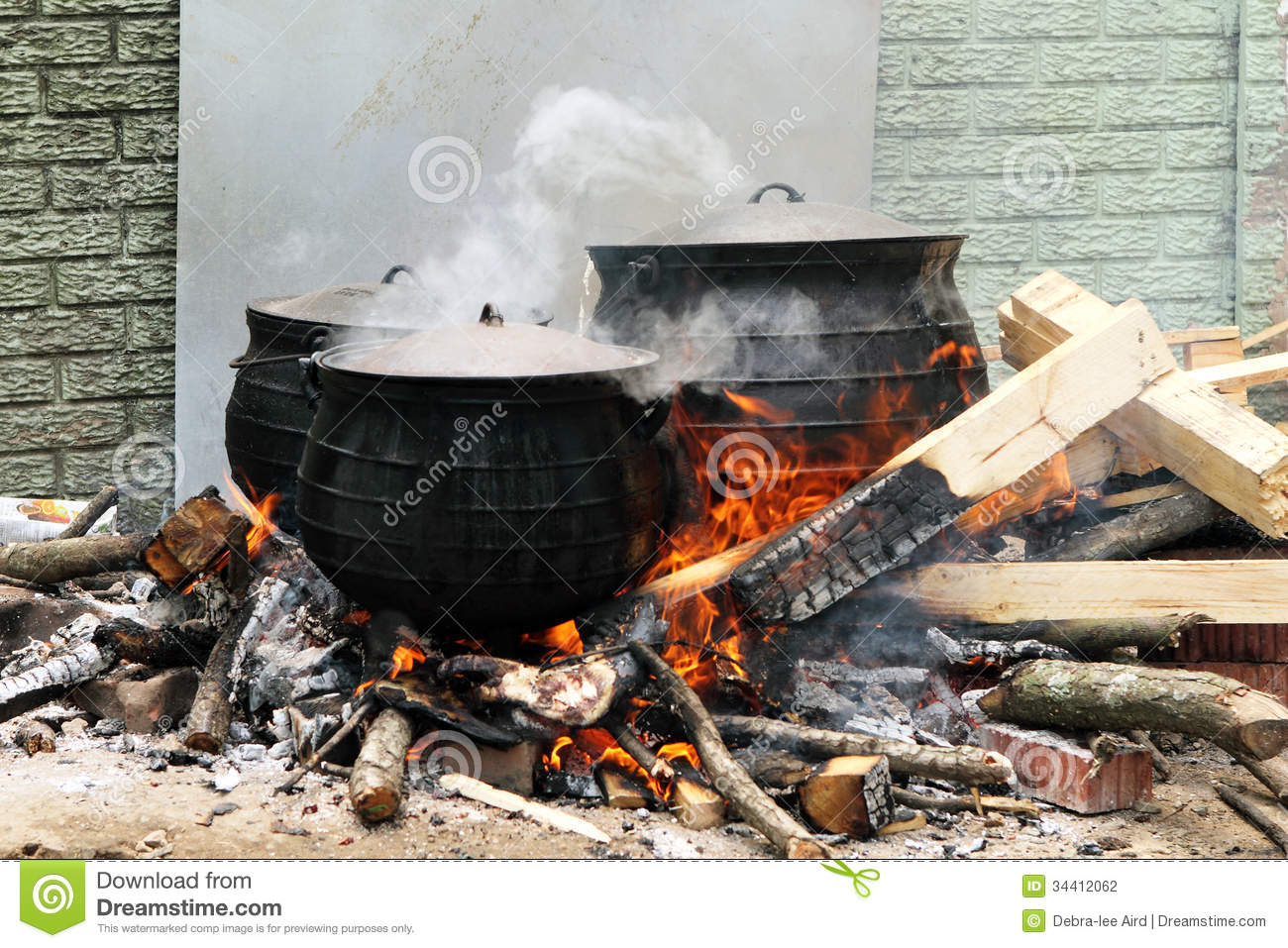 Tradional South African Cooking Stock Photo Image 34412062