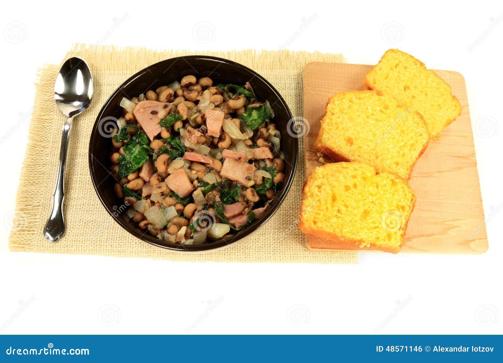 tradition du sud am ricaine servie repas de jour de nouvelles ann es photo stock image 48571146. Black Bedroom Furniture Sets. Home Design Ideas