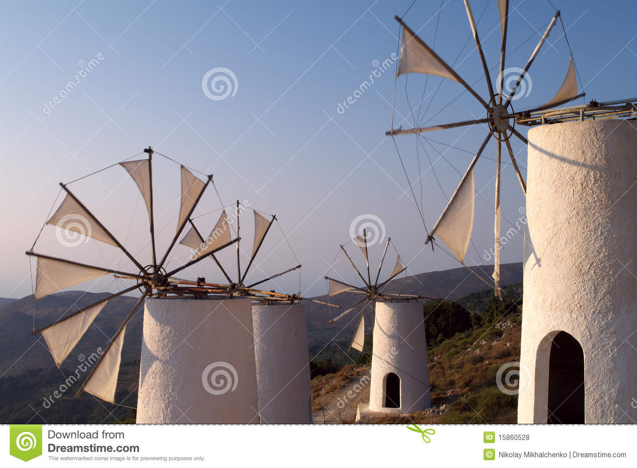 Pump It Up Prices >> Tradition Greek windmills stock photo. Image of culture ...
