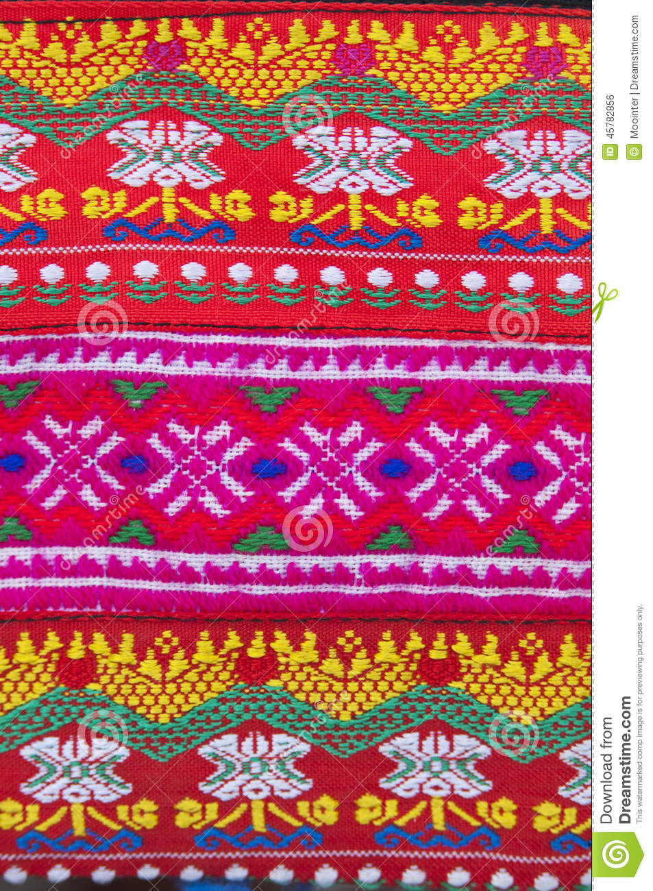 Tradition handwork fabric of hill tribe background,Thailand