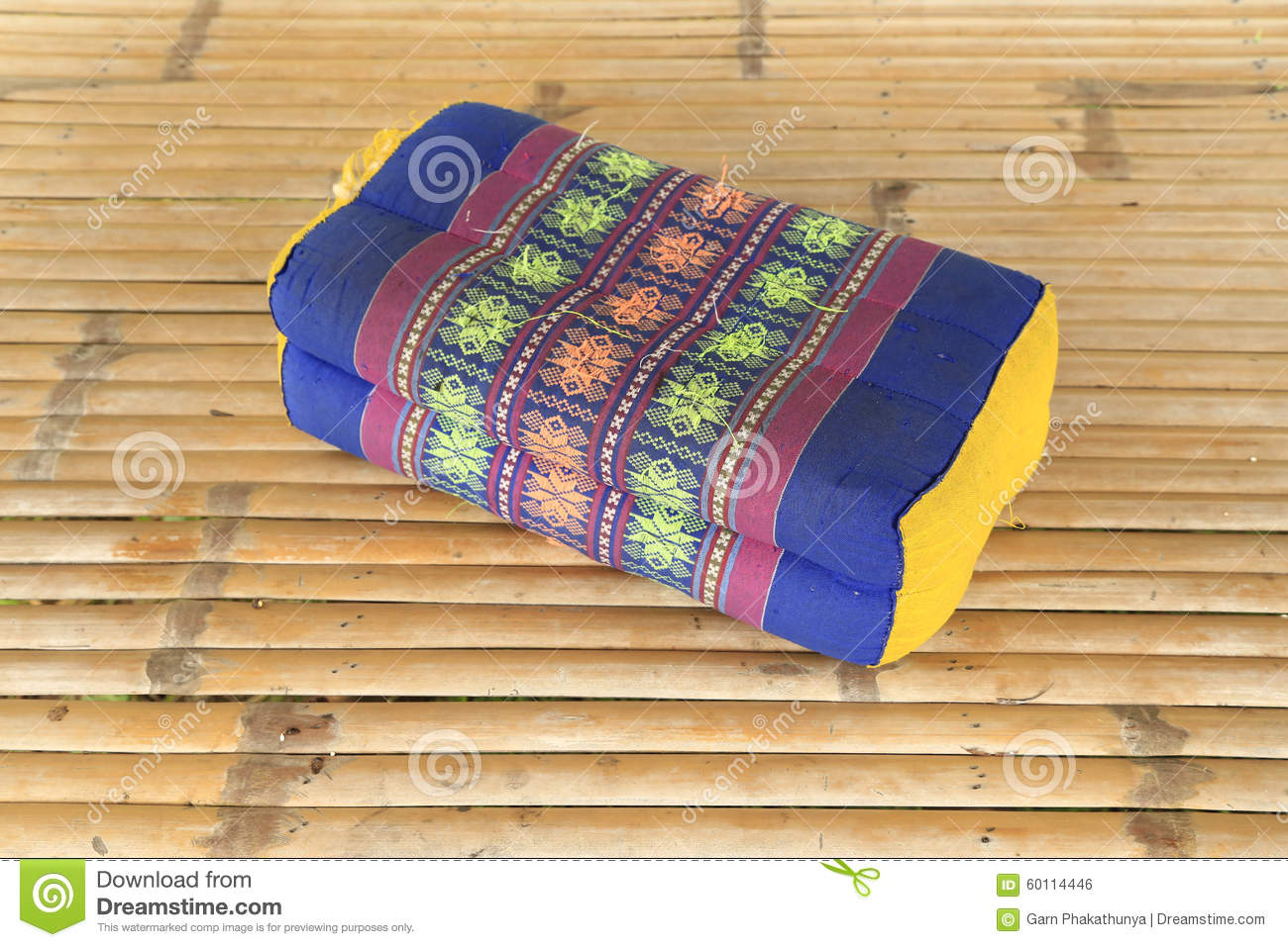 Tradition Native Thai Style Pillow Pattern Stock Photo - Image: 60114446