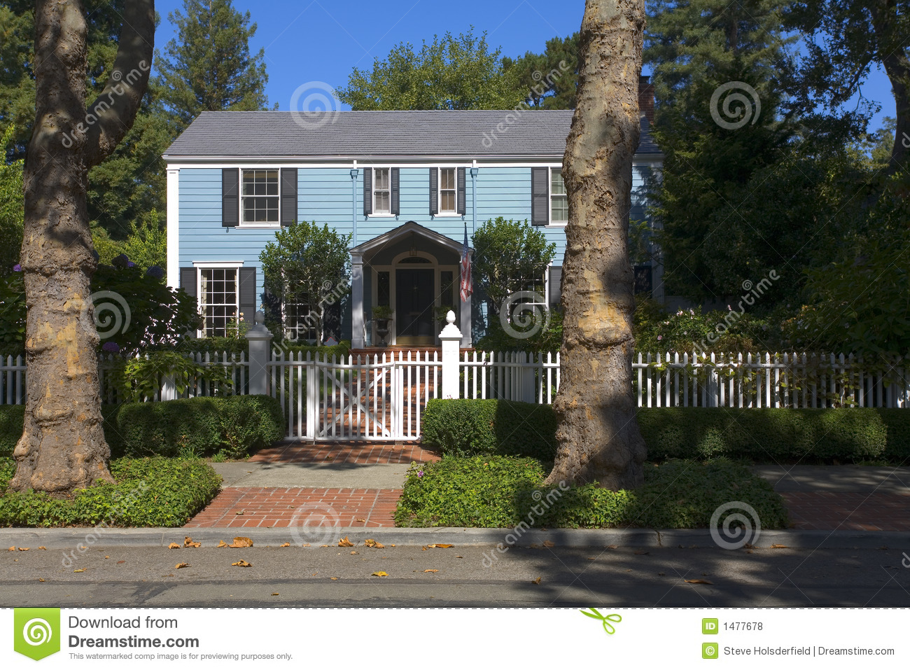 Traditional 2 story home royalty free stock photos image for Traditional 2 story house