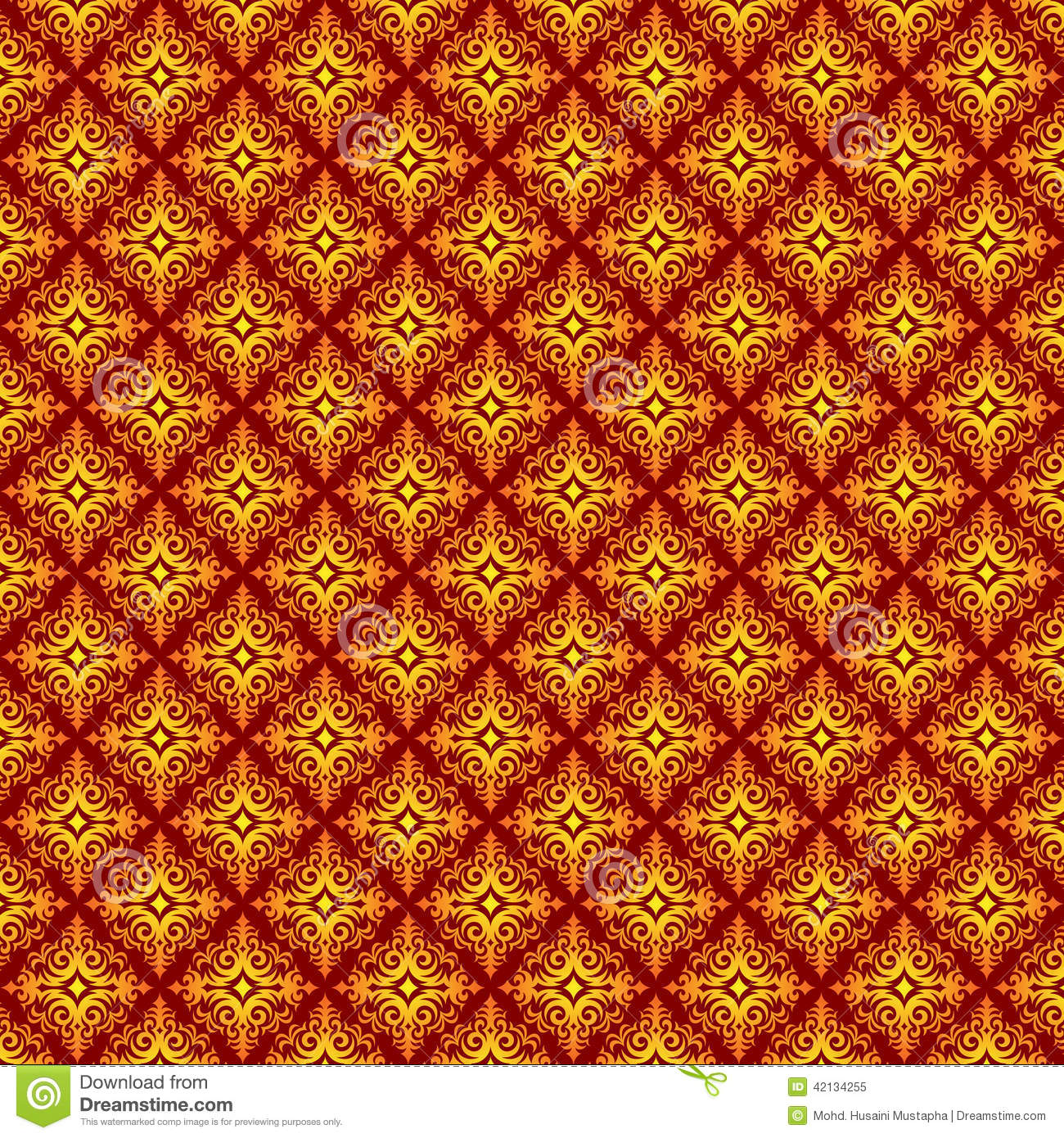 Traditional Abstract Batik Pattern Stock Vector