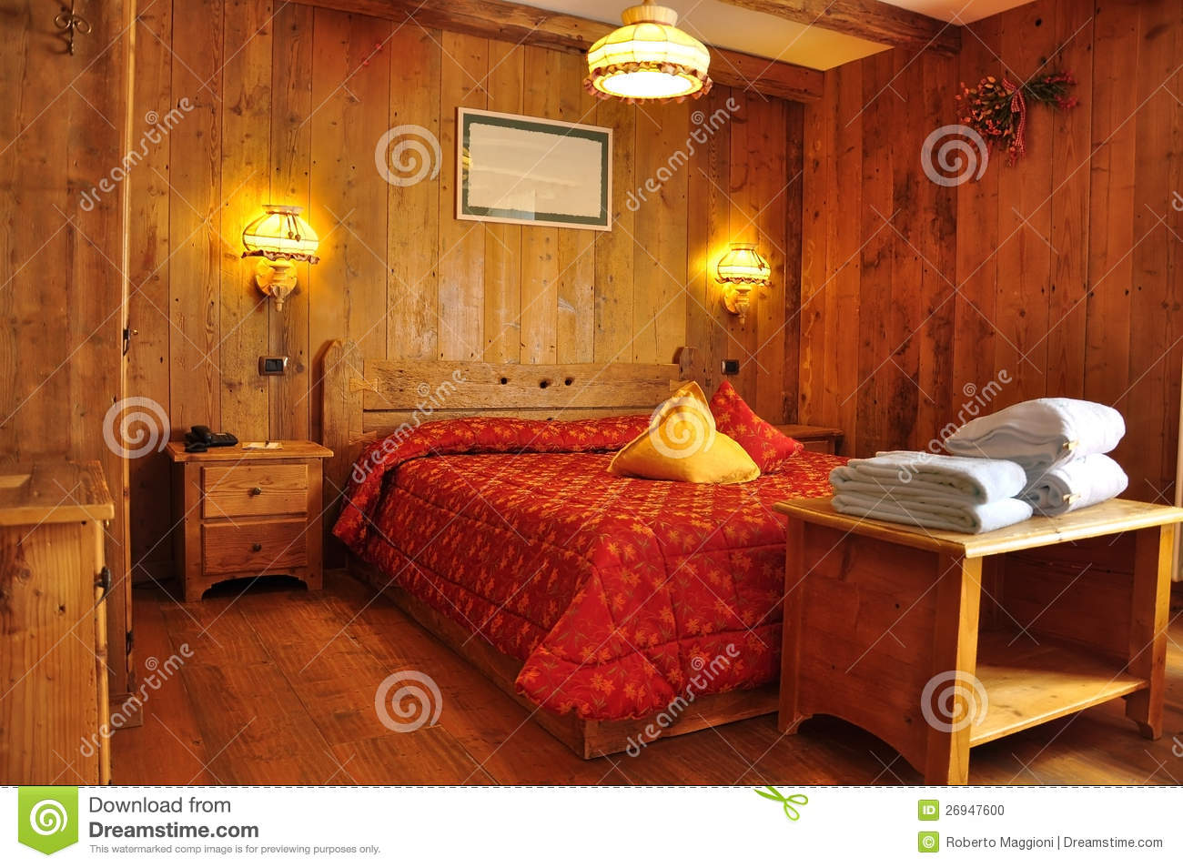 Traditional accommodation mountain hotel room stock photo for Designhotel maastricht comfort xl