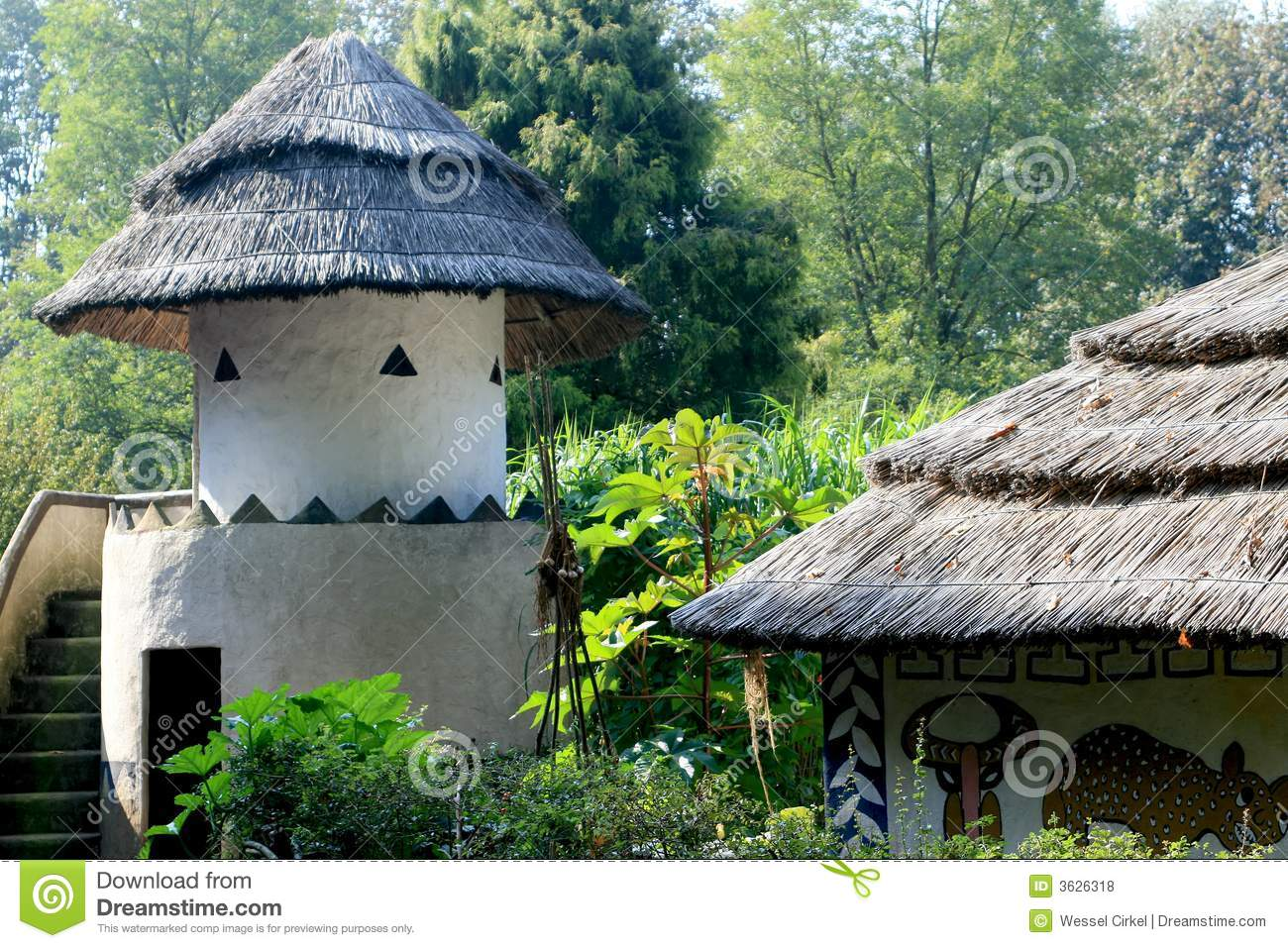 traditional african architecture royalty free stock photos - image