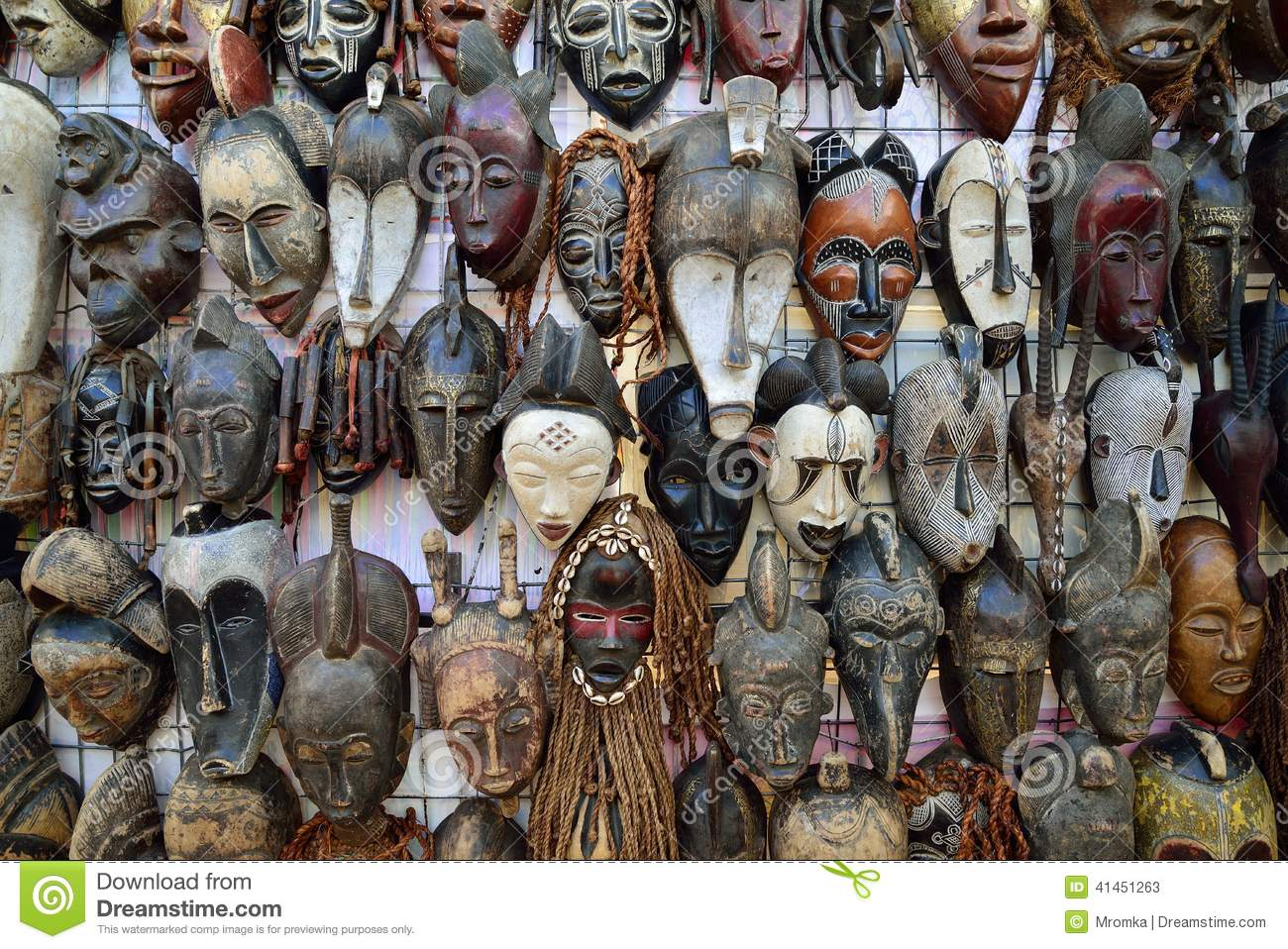 traditional african masks stock image image of africa
