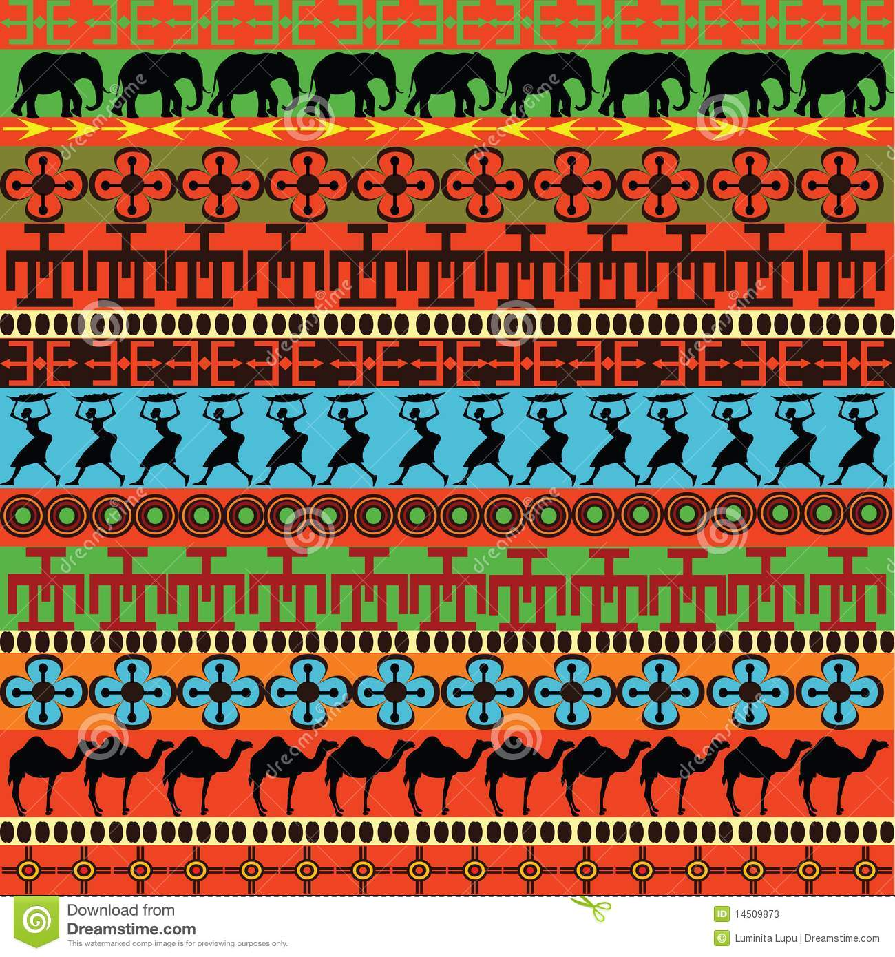Traditional African Pattern Stock Photos Image 14509873