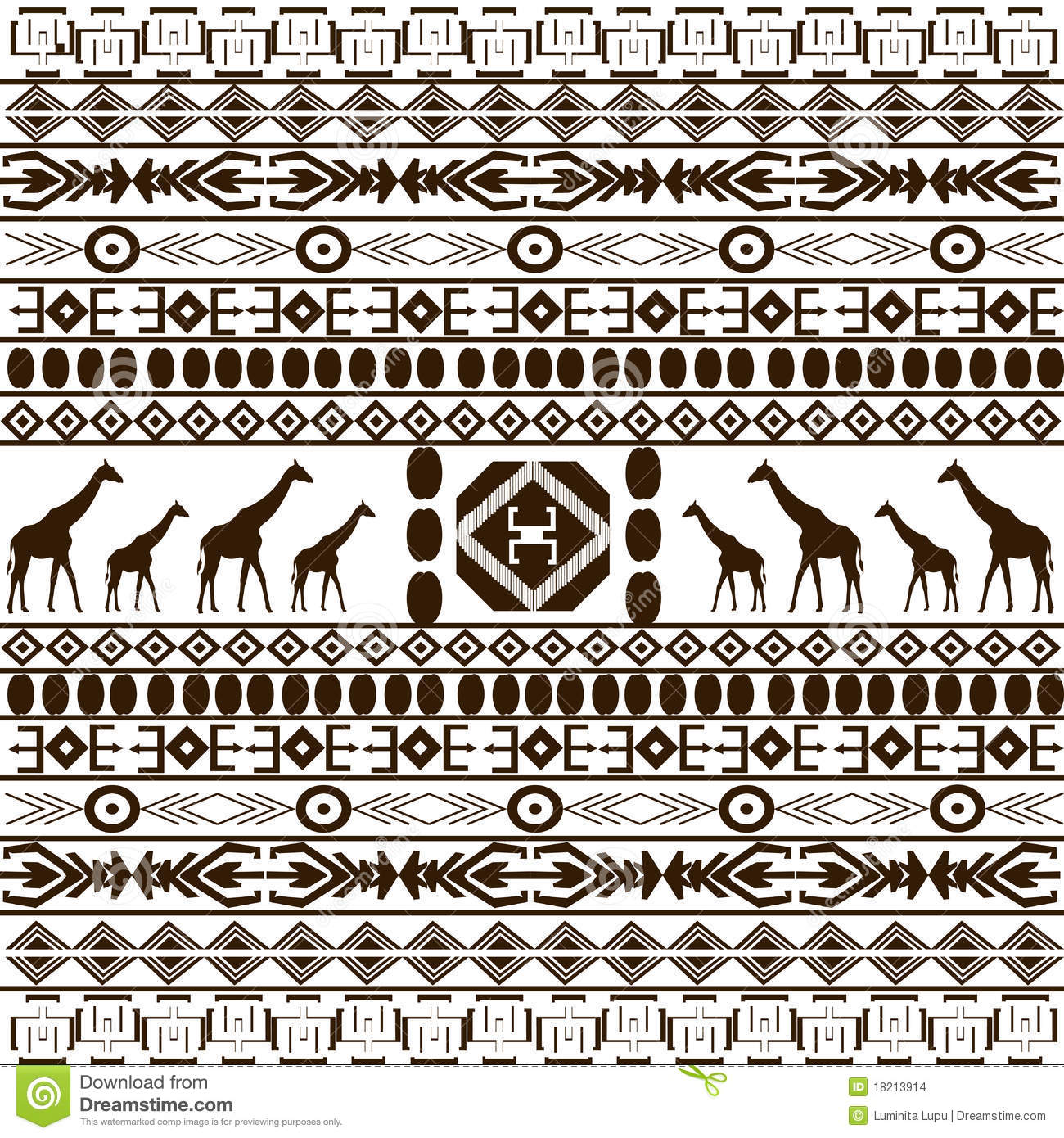 ... similar stock images of ` Traditional African pattern with giraffes