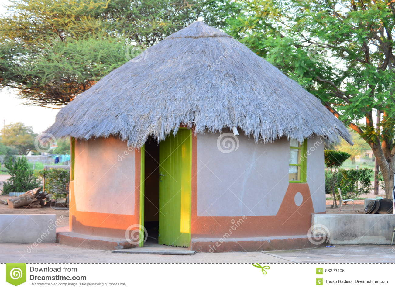 Grass Thatched House Plans Traditional Tswana House