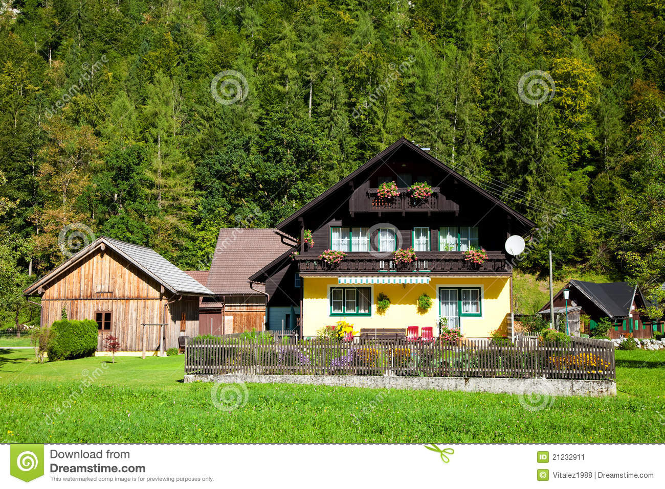 Traditional alpine style house stock image image 21232911 for Alpine style homes