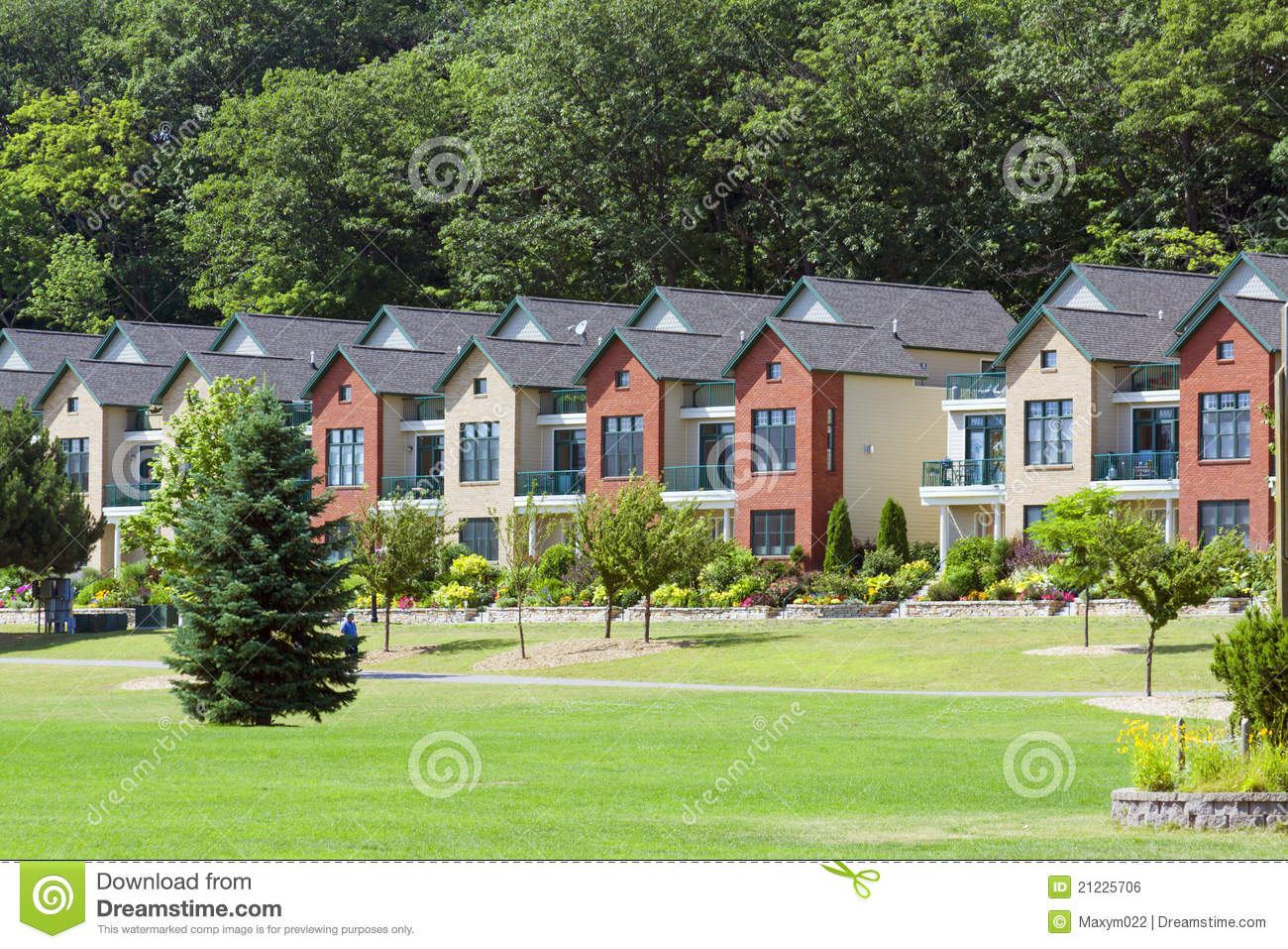 Traditional American Homes Royalty Free Stock Image