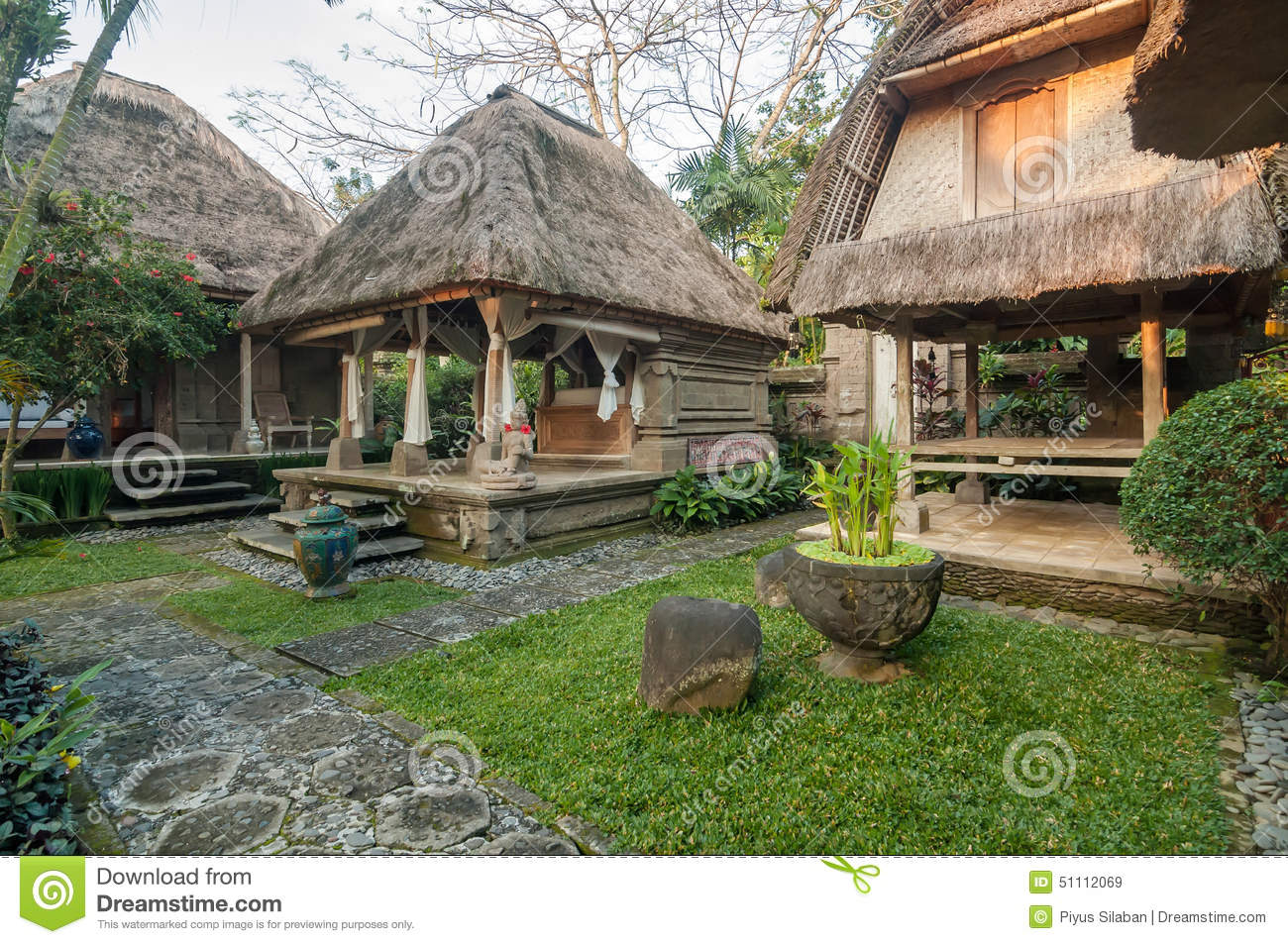 Traditional and antique balinese style villa design stock Bali house designs floor plans