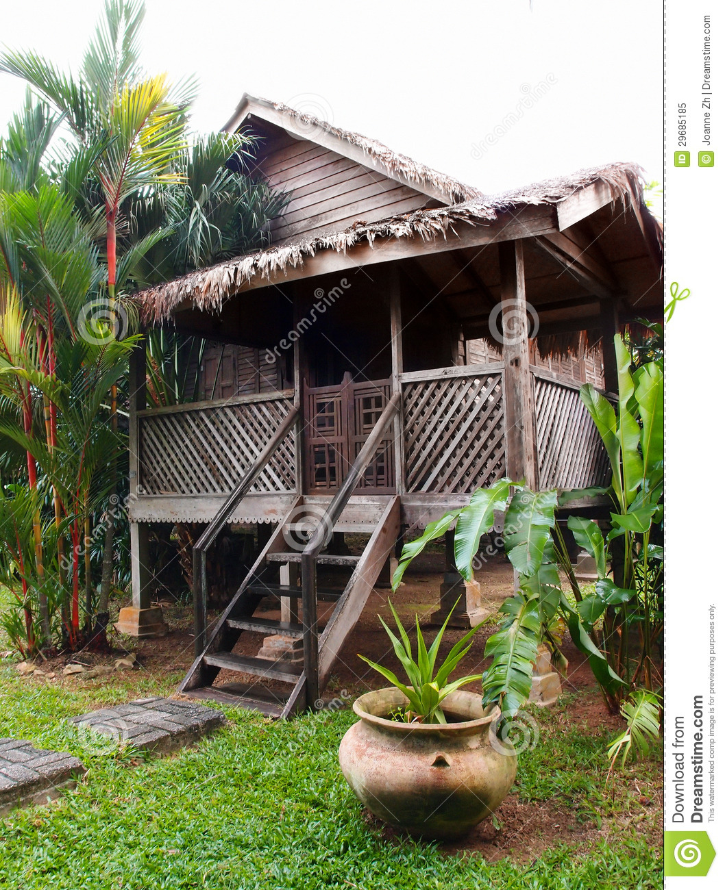 Traditional Antique Wood House, Malaysia Stock Image ...