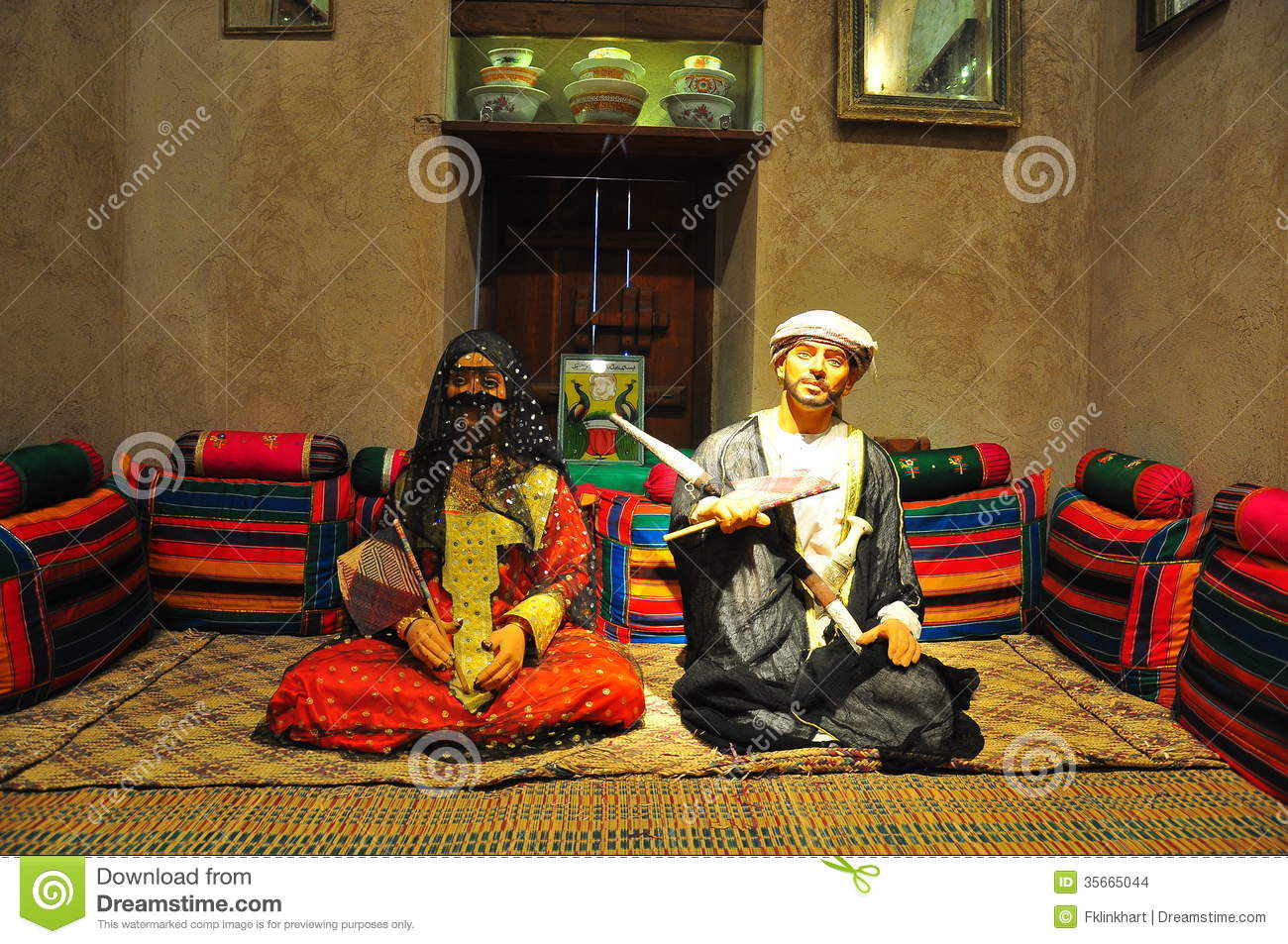 Traditional Arabian Couple Stock Photo Image Of East
