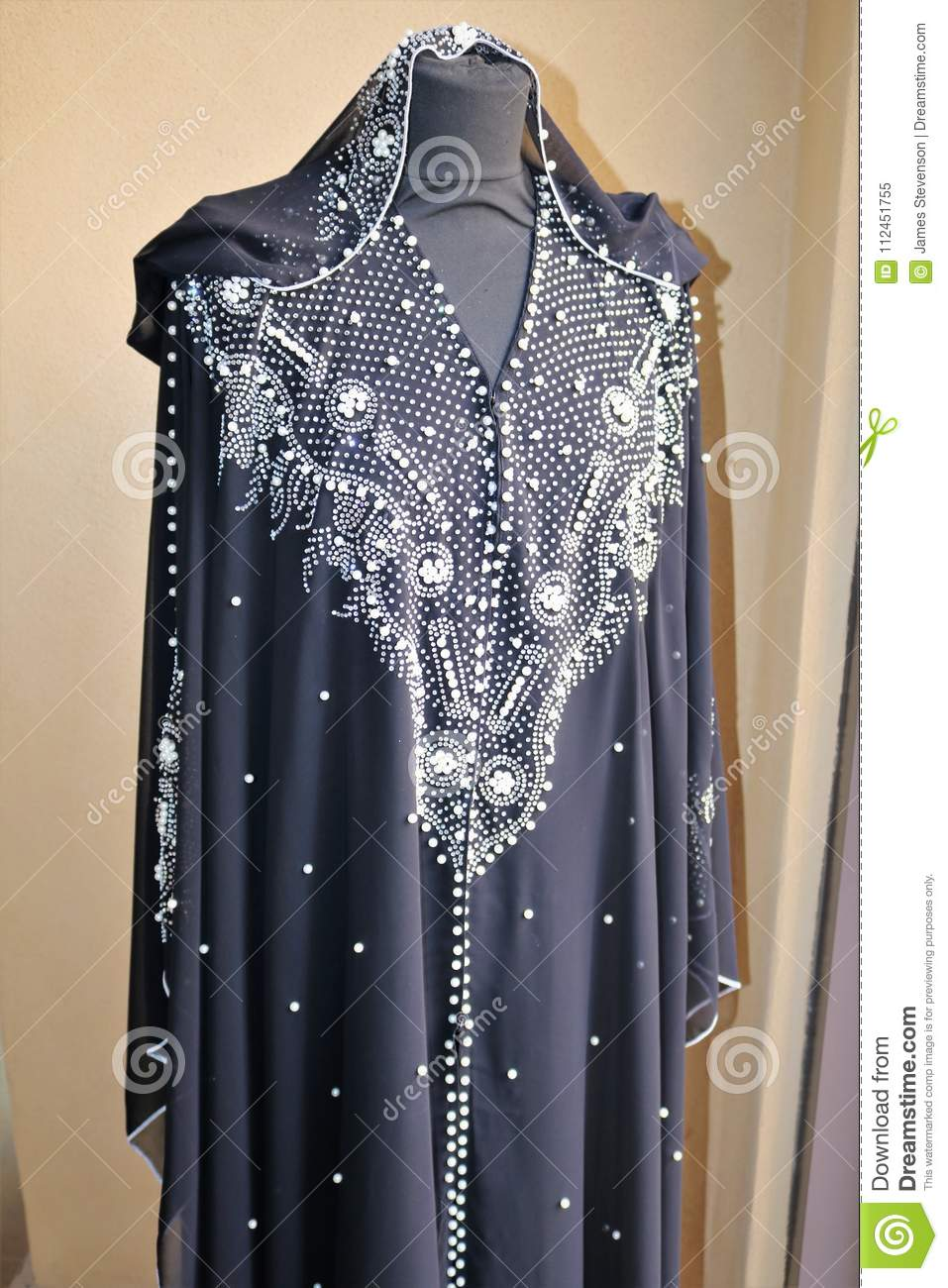 Traditional Arabic Dress For Women On The Market In Dubai  Stock