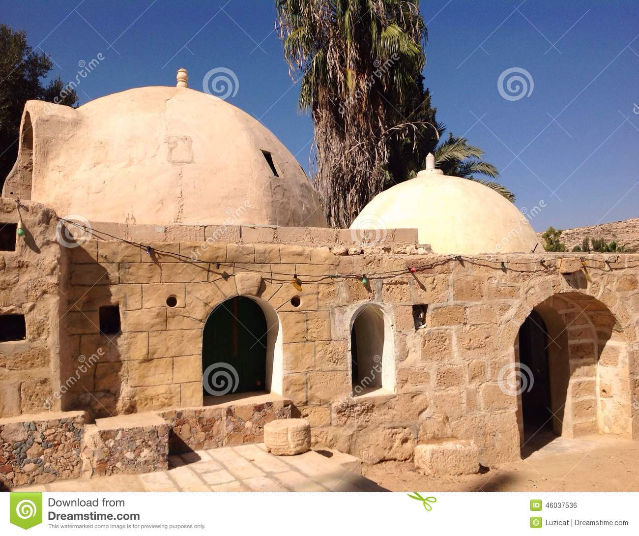 Traditional arabic houses in nagev desert stock photo for Architecture arabe
