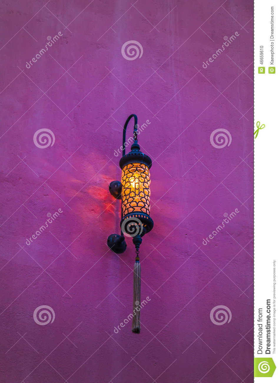 Traditional Arabic Lamp Used For Ornamental Buildings Stock Photo ... for Traditional Arabic Lamp  29jwn