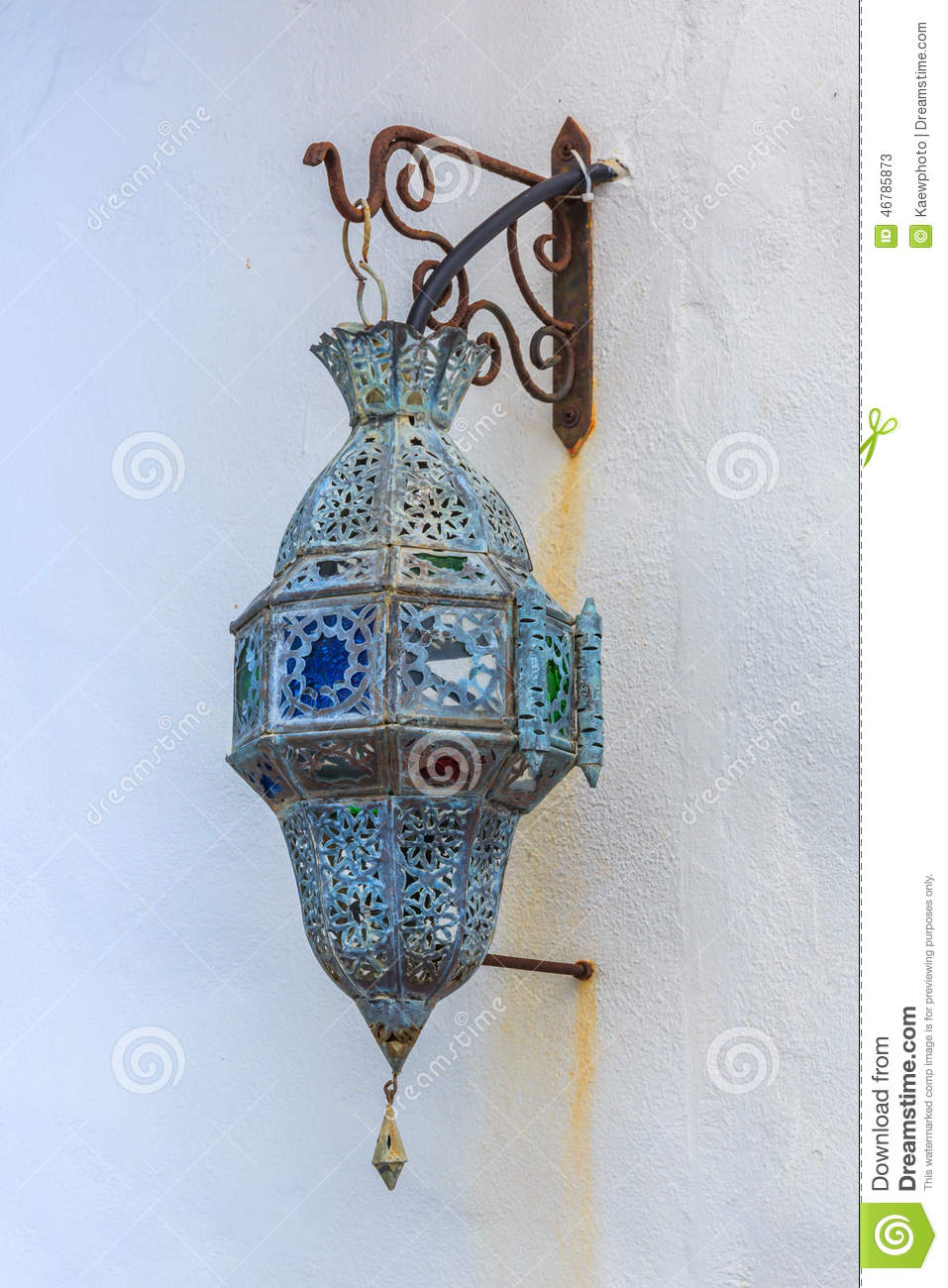 Traditional Arabic Lamp Used For Ornamental Buildings Stock Image ... for Traditional Arabic Lamp  104xkb