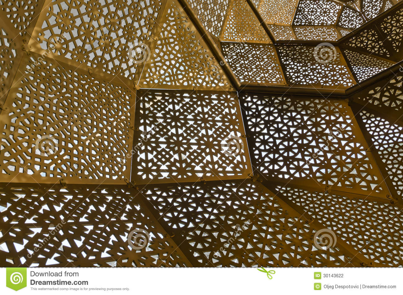 Modern arabic motives stock photo image of middleeast for Modern arabic house architecture