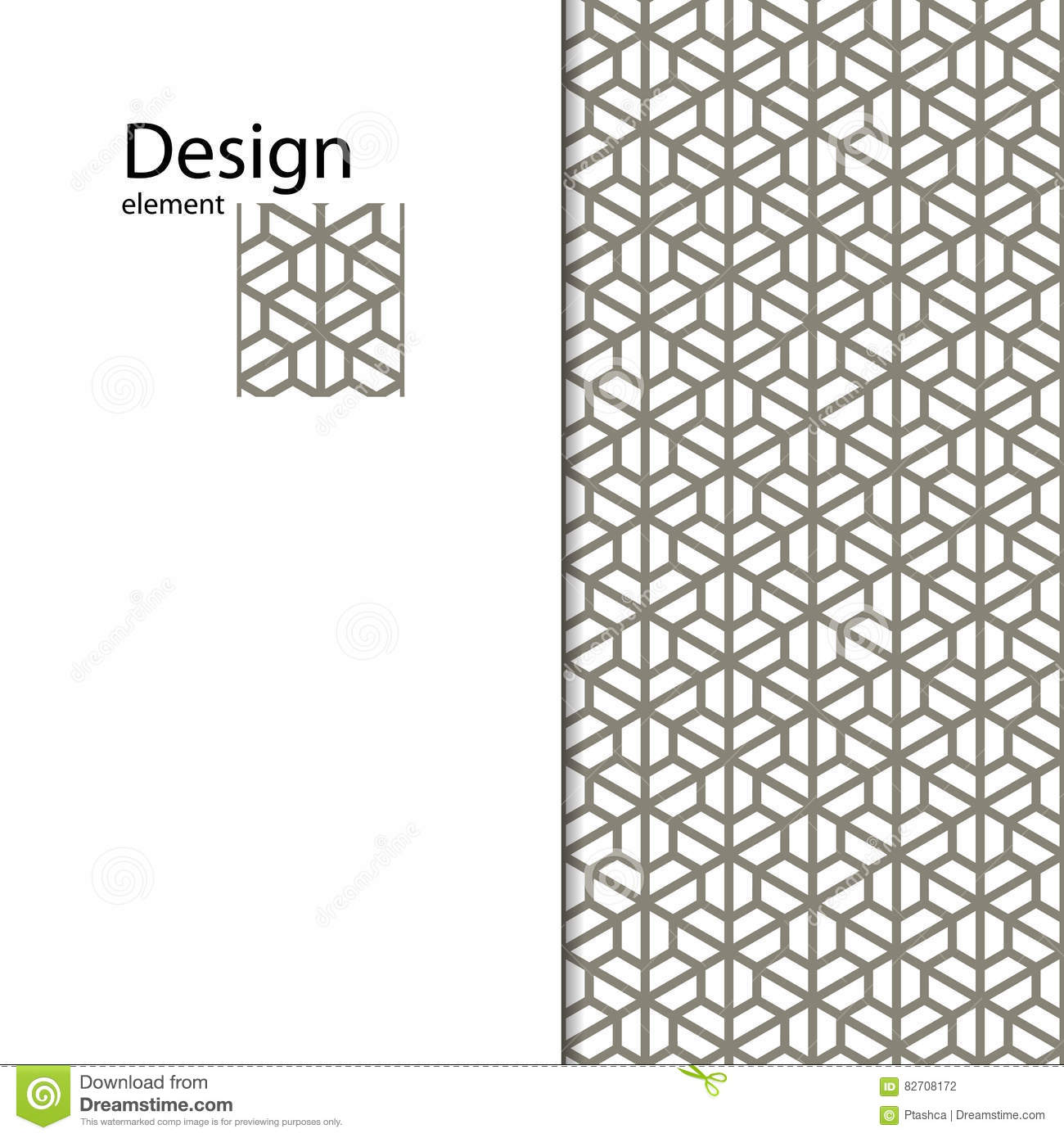 Traditional arabic seamless ornament geometric pattern for Object pool design pattern